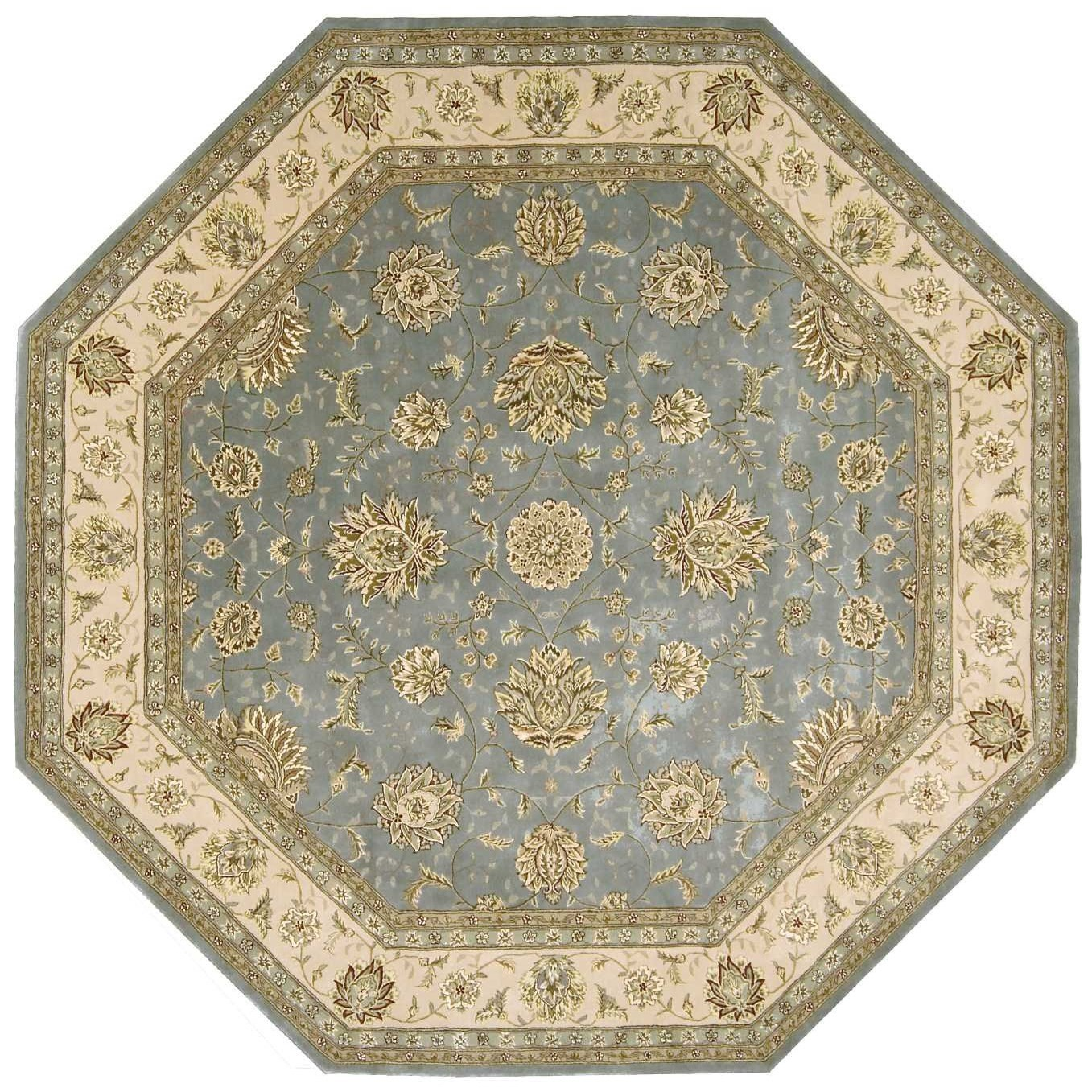 Nourison 2000 2000 2210 Blue 10' Octagon  Area Rug by Nourison at Home Collections Furniture