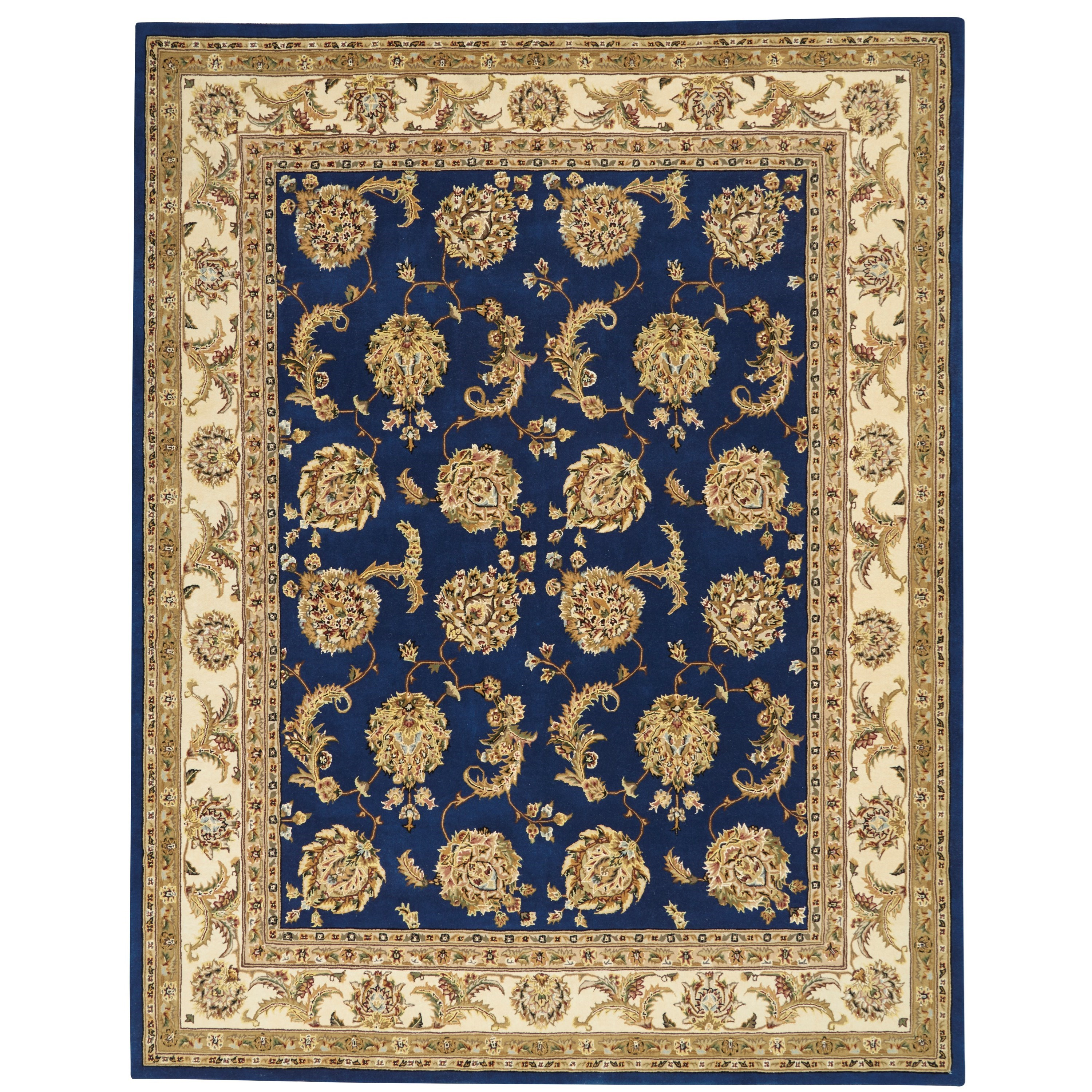 Nourison 2000 2000 9' x 12' Navy Area Rug by Nourison at Home Collections Furniture