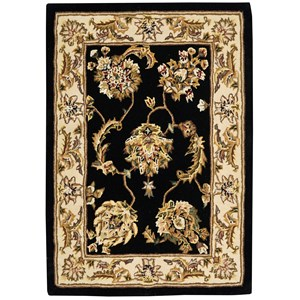 2000 2'x3' Accent Size Black  Area Rug