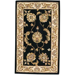 2000 3' x 4' Accent Size Black Area Rug