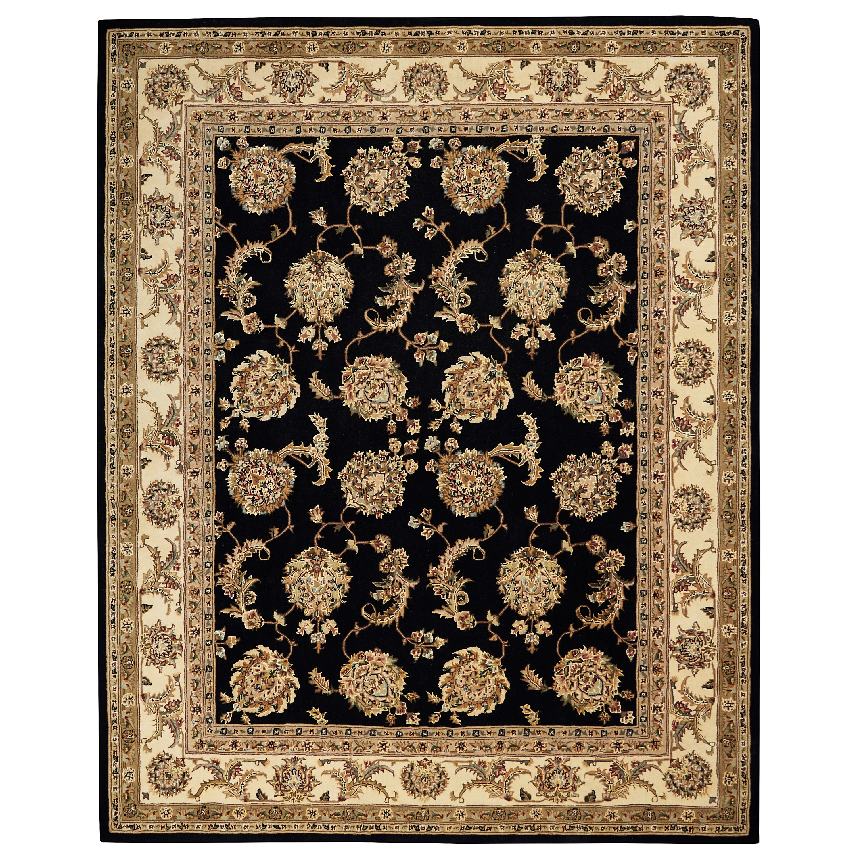 Nourison 2000 2000 9' x 12' Black  Area Rug by Nourison at Home Collections Furniture