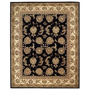 2000 9' x 12' Black  Area Rug