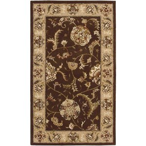 2000 2206 Brown 3'x5'  Area Rug