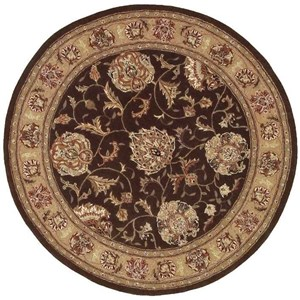 2000 2206 Brown 4' Round  Area Rug