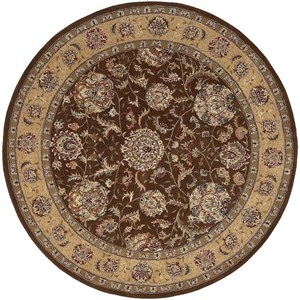 2000 2206 Brown 6' Round  Area Rug