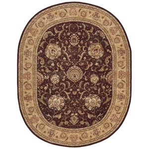 2000 2206 Brown 10' Oval  Area Rug