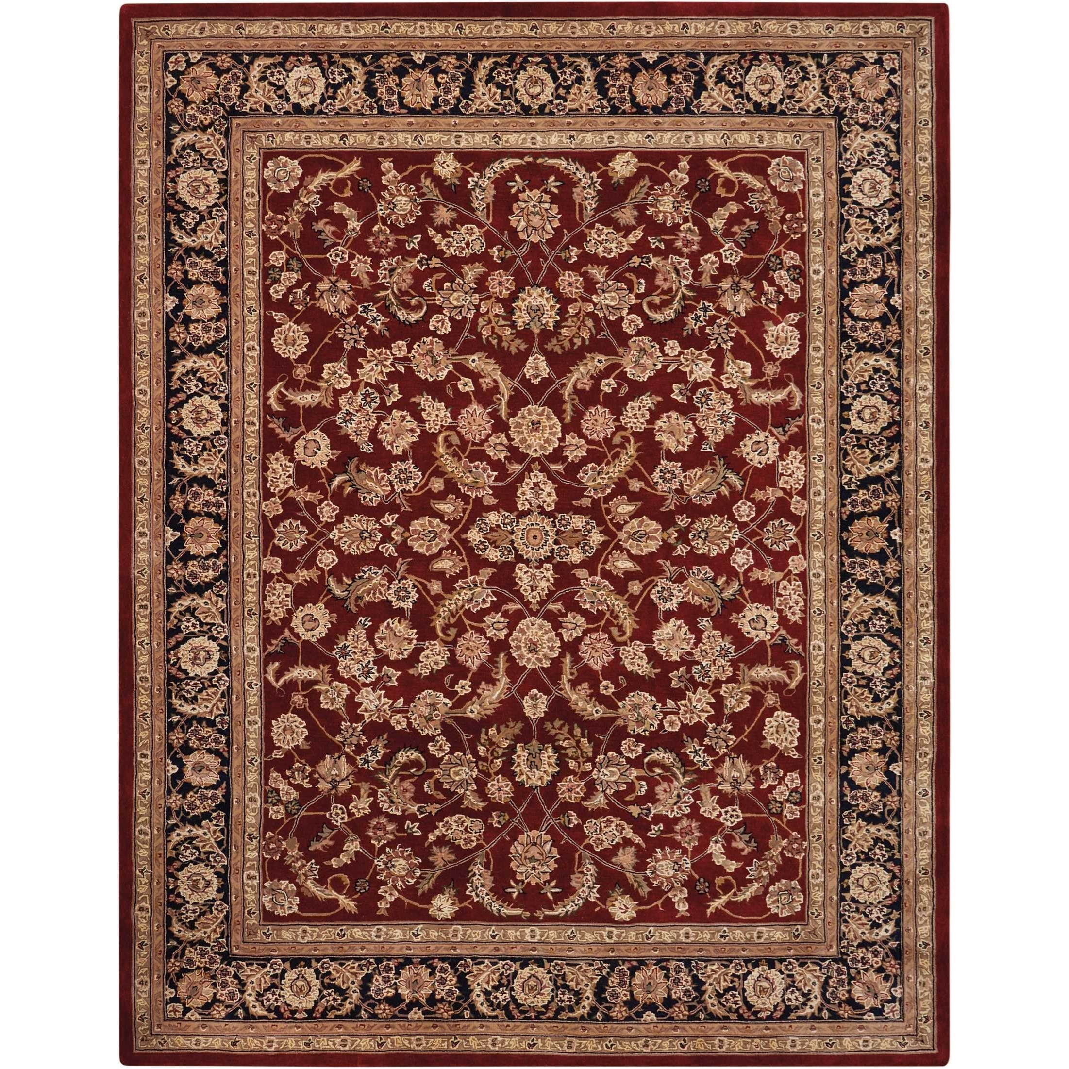 Nourison 2000 2000 2002 Dark Red Multicolor 12'x15'  Area  by Nourison at Home Collections Furniture