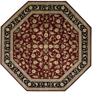 2000 2002 Dark Red Multicolor 10' Octagon  A