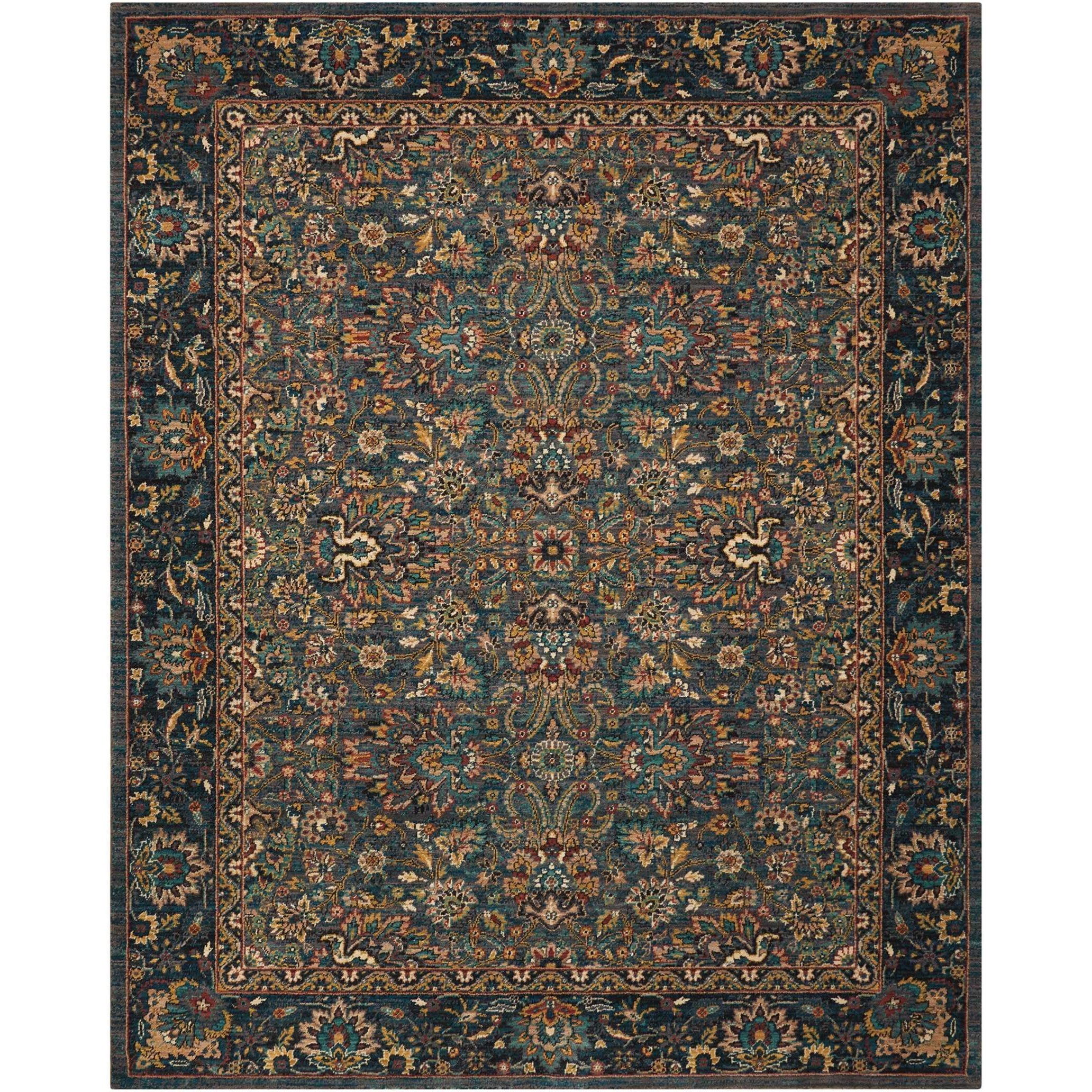 """Nourison 2020 6'6"""" X 9'5"""" Steel Rug by Nourison at Home Collections Furniture"""