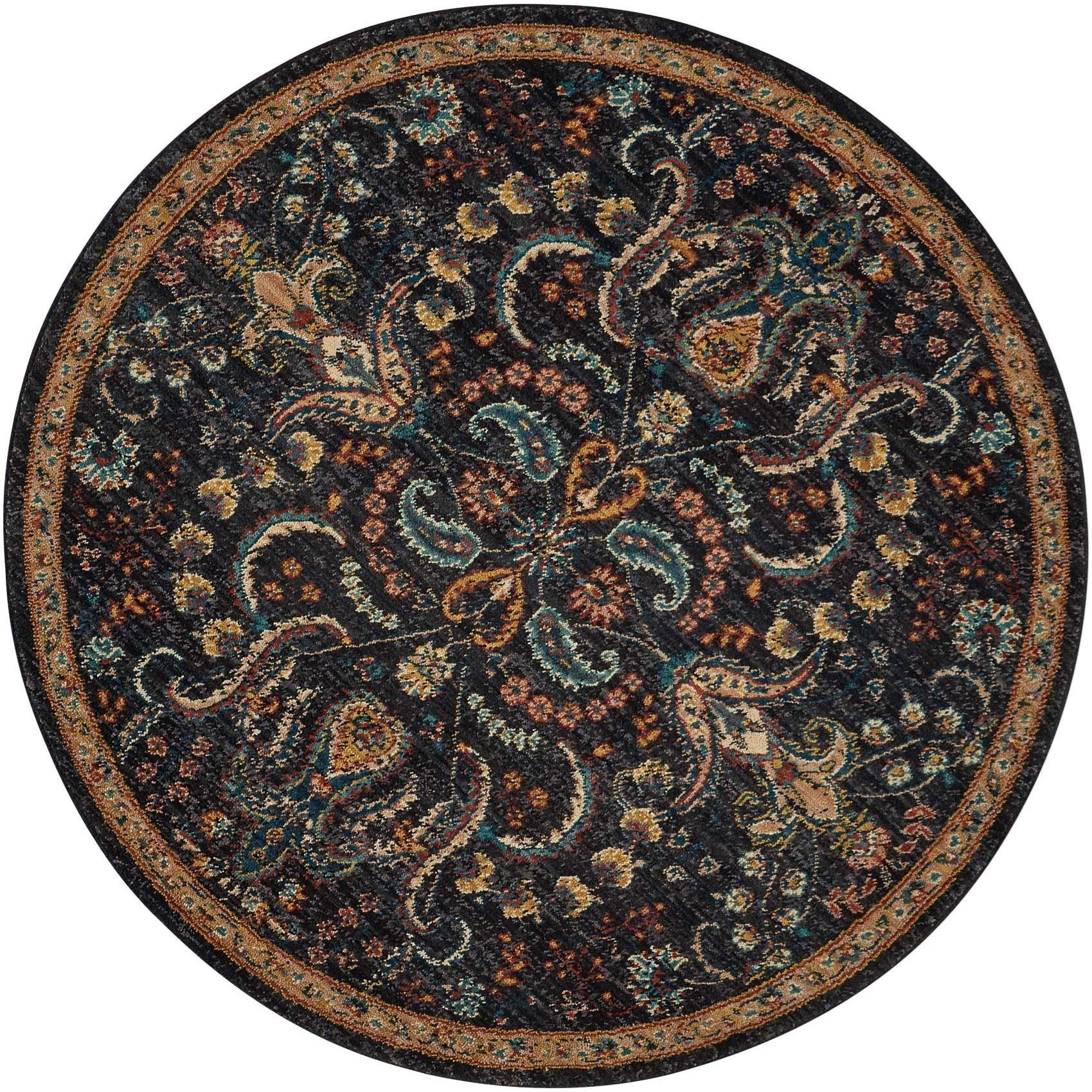 Nourison 2020 5' X 5' Night Fall Rug by Nourison at Sprintz Furniture