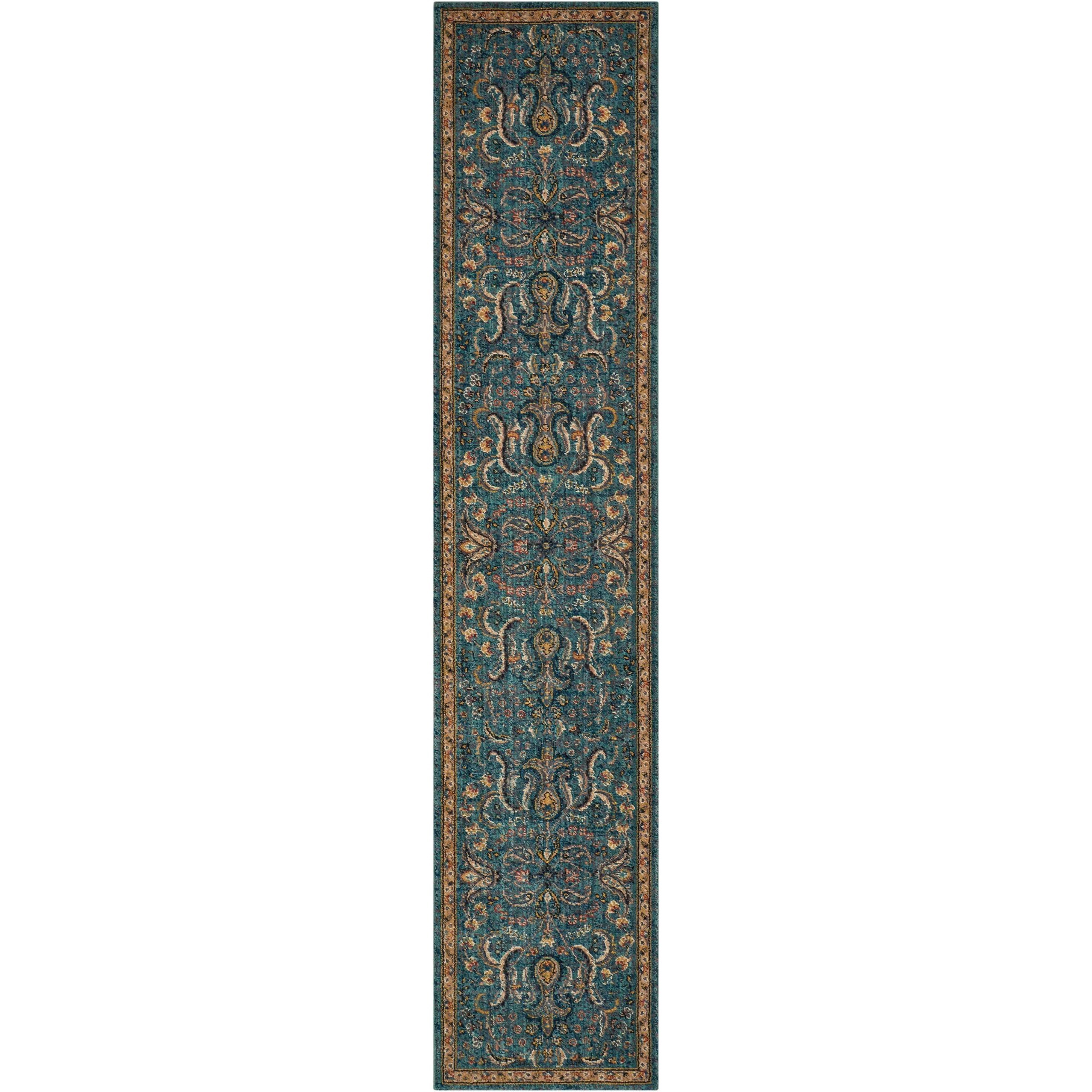"Nourison 2020 2'3"" X 11' Teal Rug by Nourison at Sprintz Furniture"