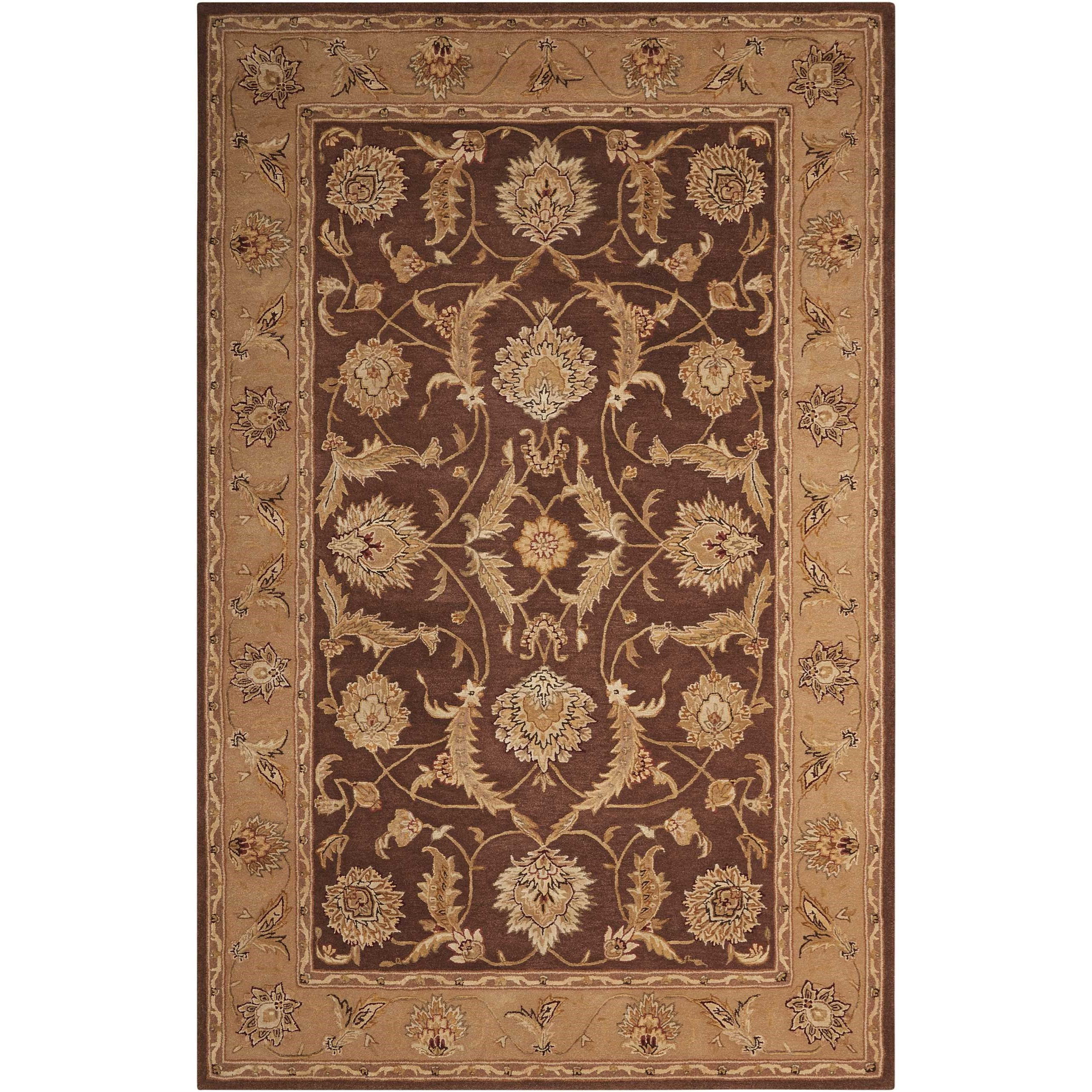 Nourison 3000 6' x 6' Brown Round Rug by Nourison at Home Collections Furniture