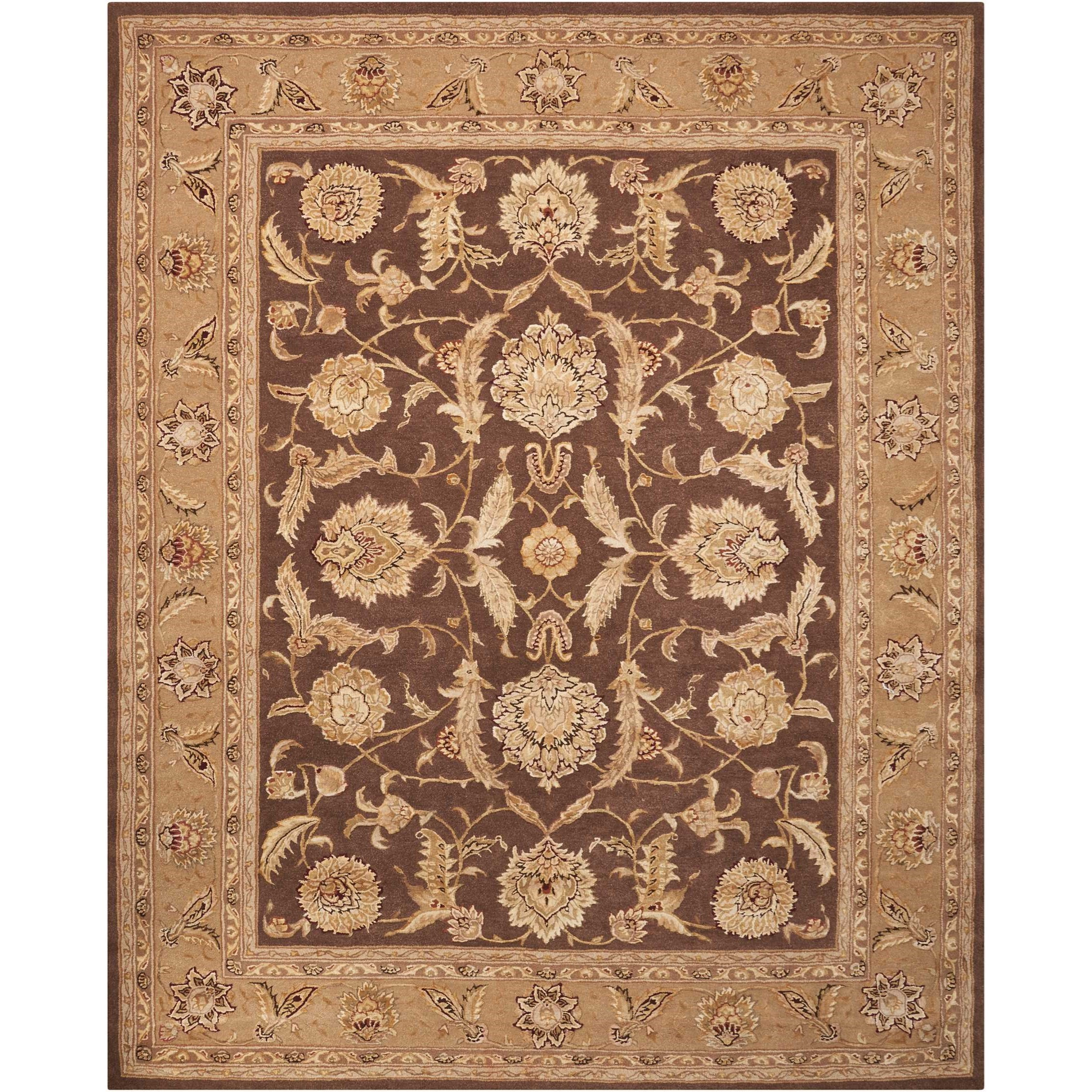 "Nourison 3000 7'9"" x 9'9"" Brown Rectangle Rug by Nourison at Home Collections Furniture"