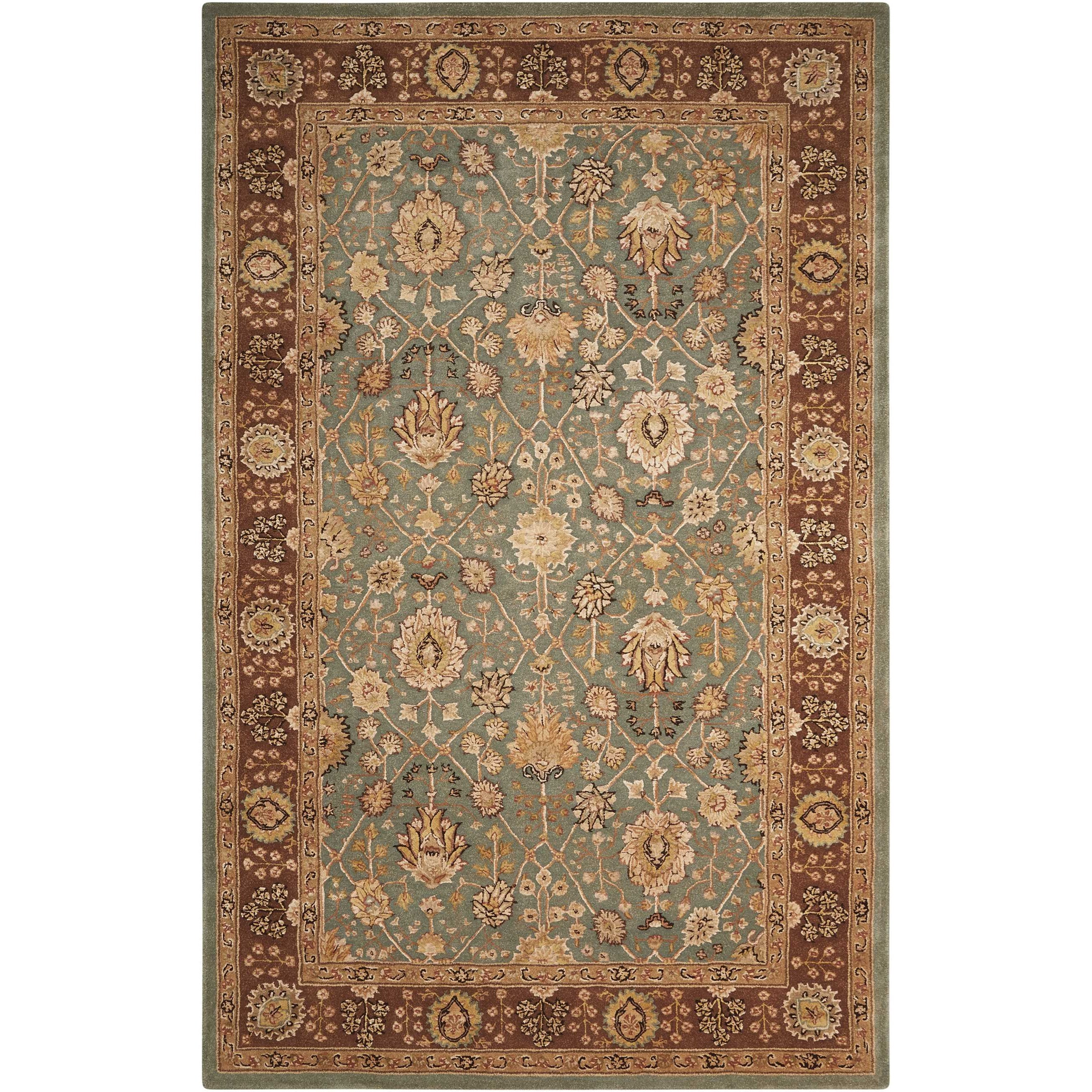 "Nourison 3000 5'6"" x 8'6"" Light Blue Rectangle Rug by Nourison at Home Collections Furniture"