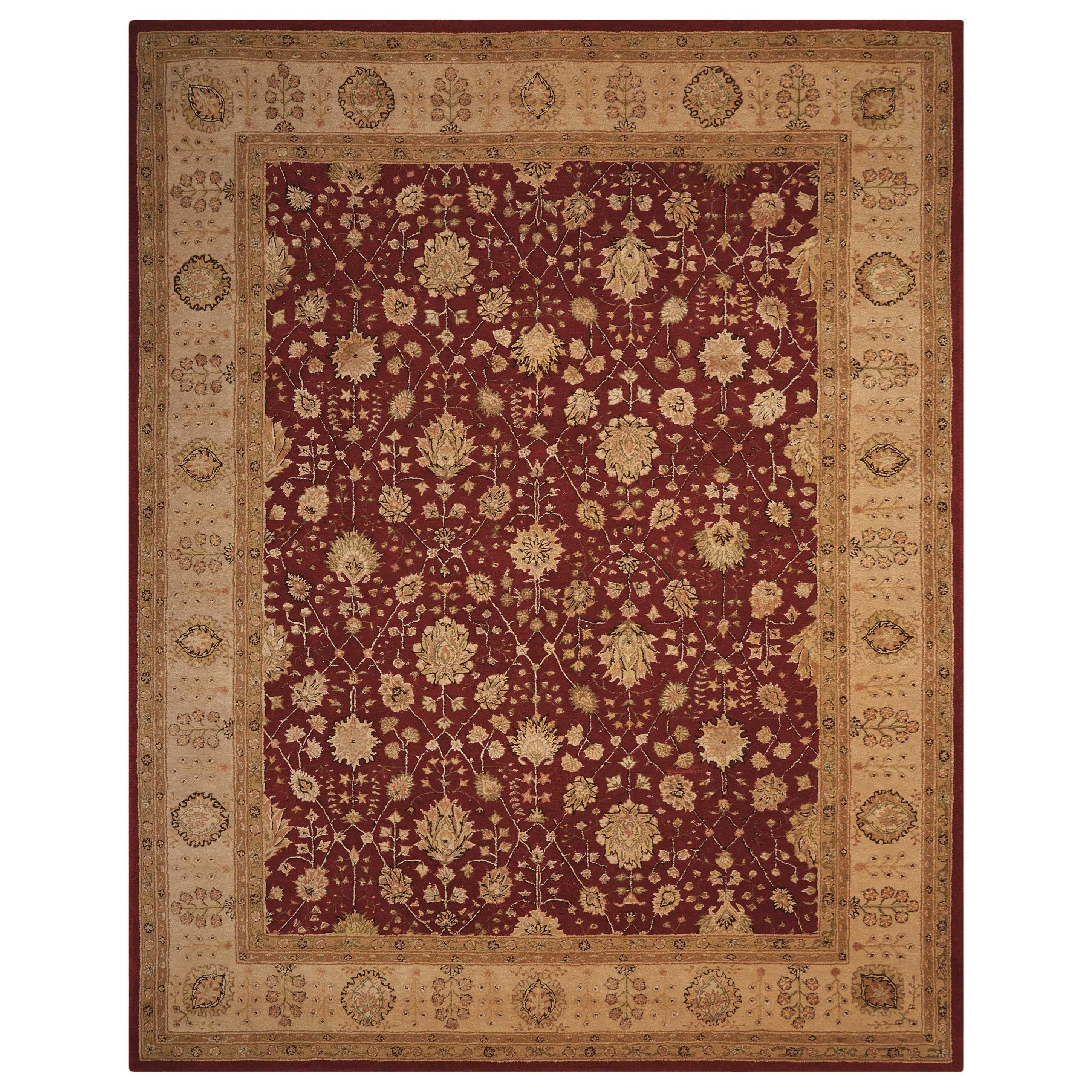 """Nourison 3000 8'6"""" x 11'6"""" Red Rectangle Rug by Nourison at Home Collections Furniture"""