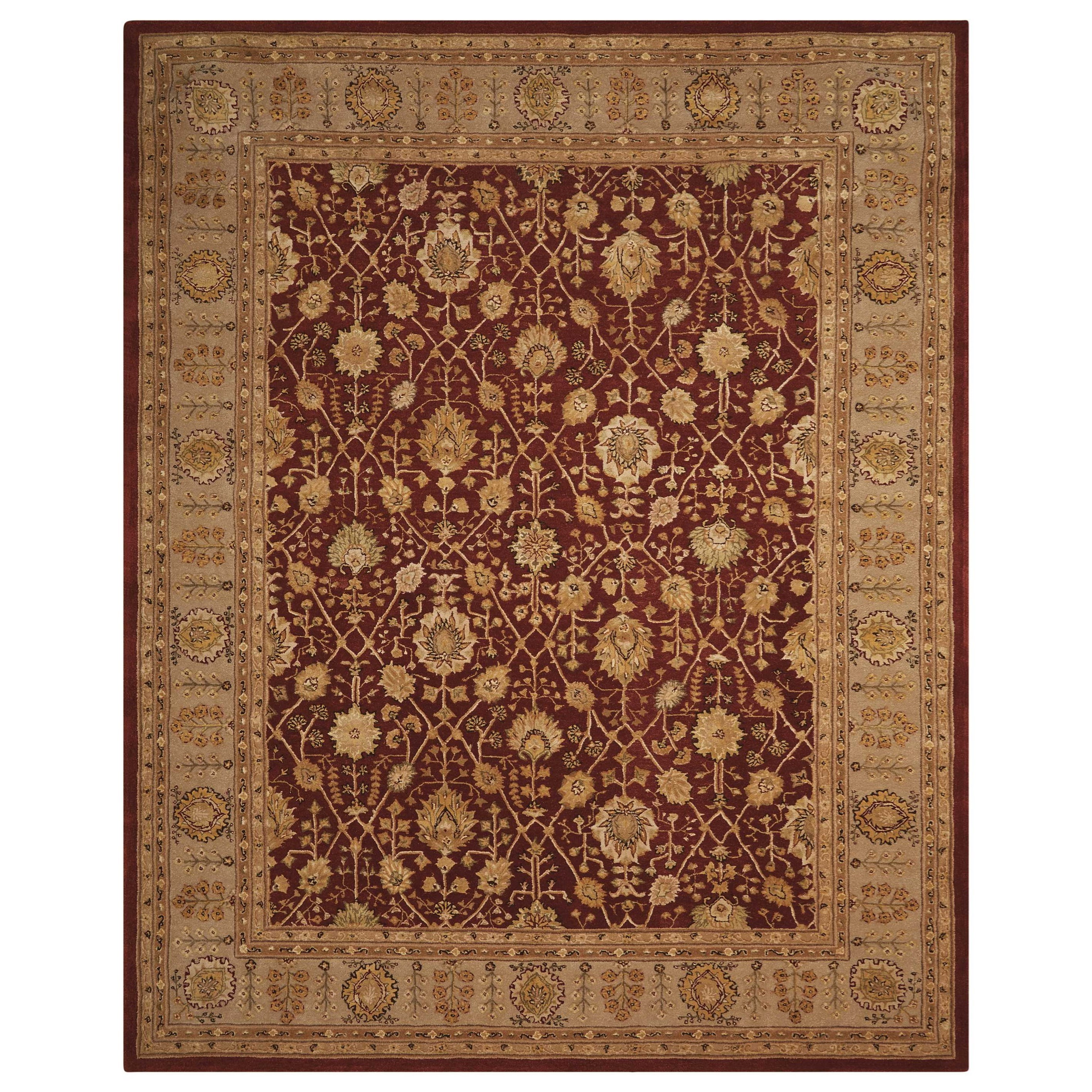 """Nourison 3000 8'6"""" x 11'6"""" Rust Rectangle Rug by Nourison at Home Collections Furniture"""