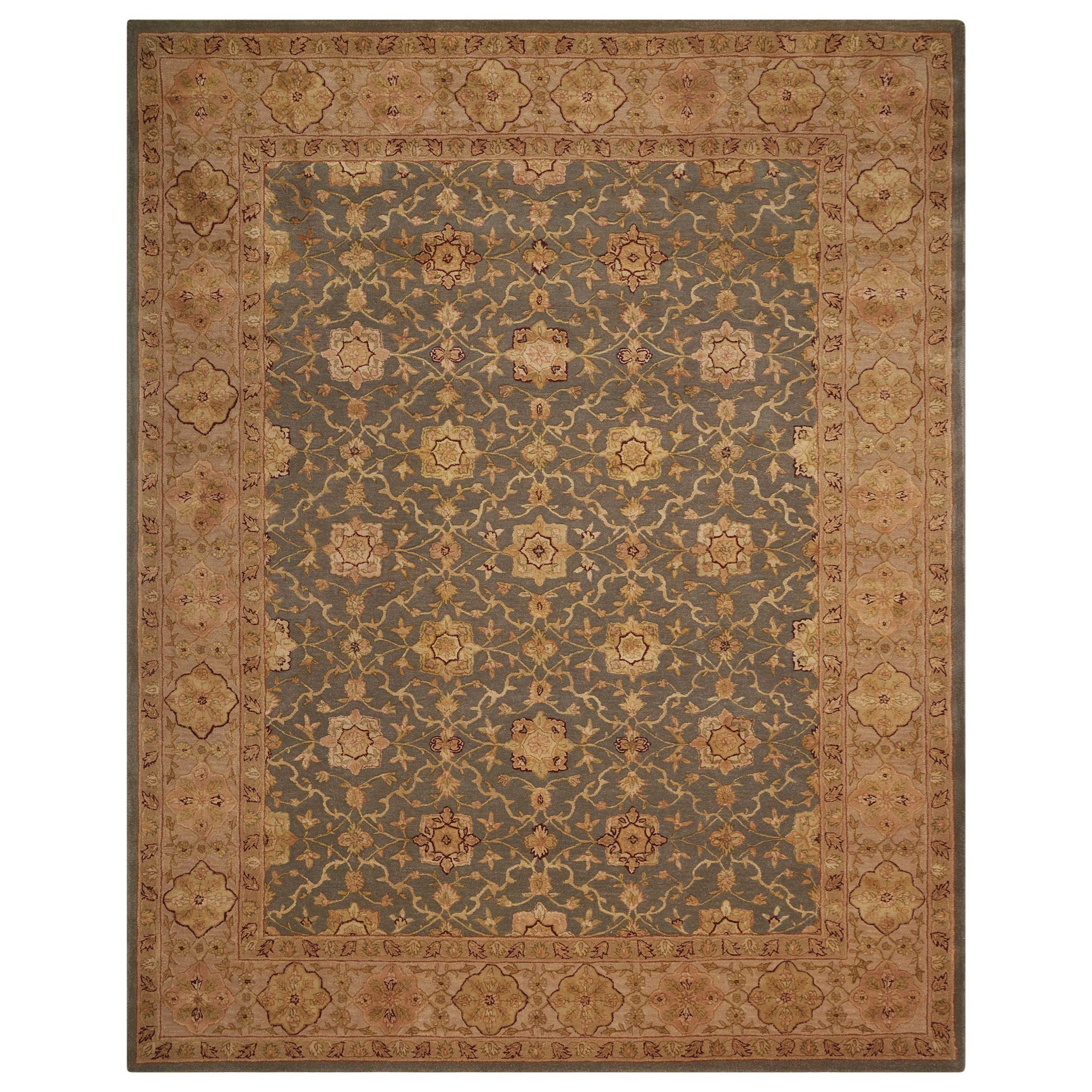 """Nourison 3000 2'6"""" x 4'2"""" Aqua Rectangle Rug by Nourison at Home Collections Furniture"""