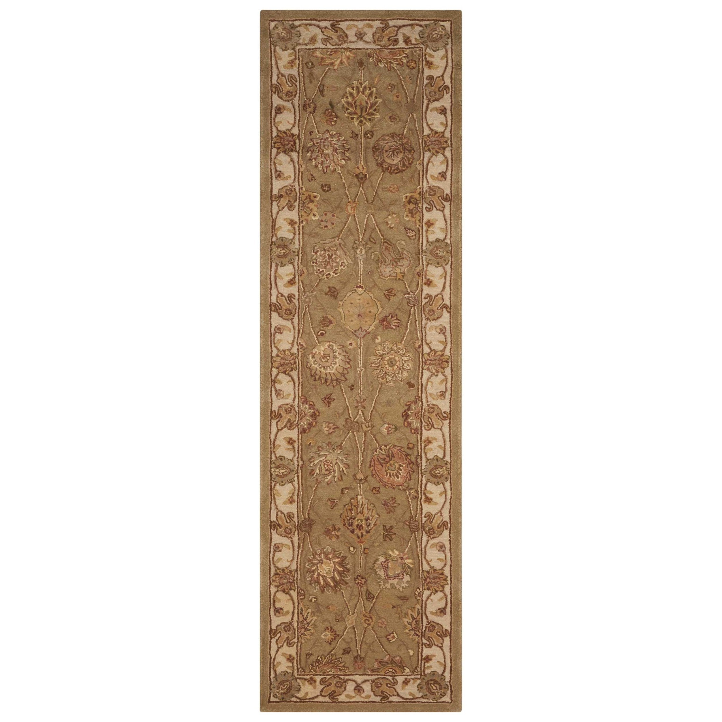 "Nourison 3000 2'6"" x 12' Light Green Runner Rug by Nourison at Home Collections Furniture"