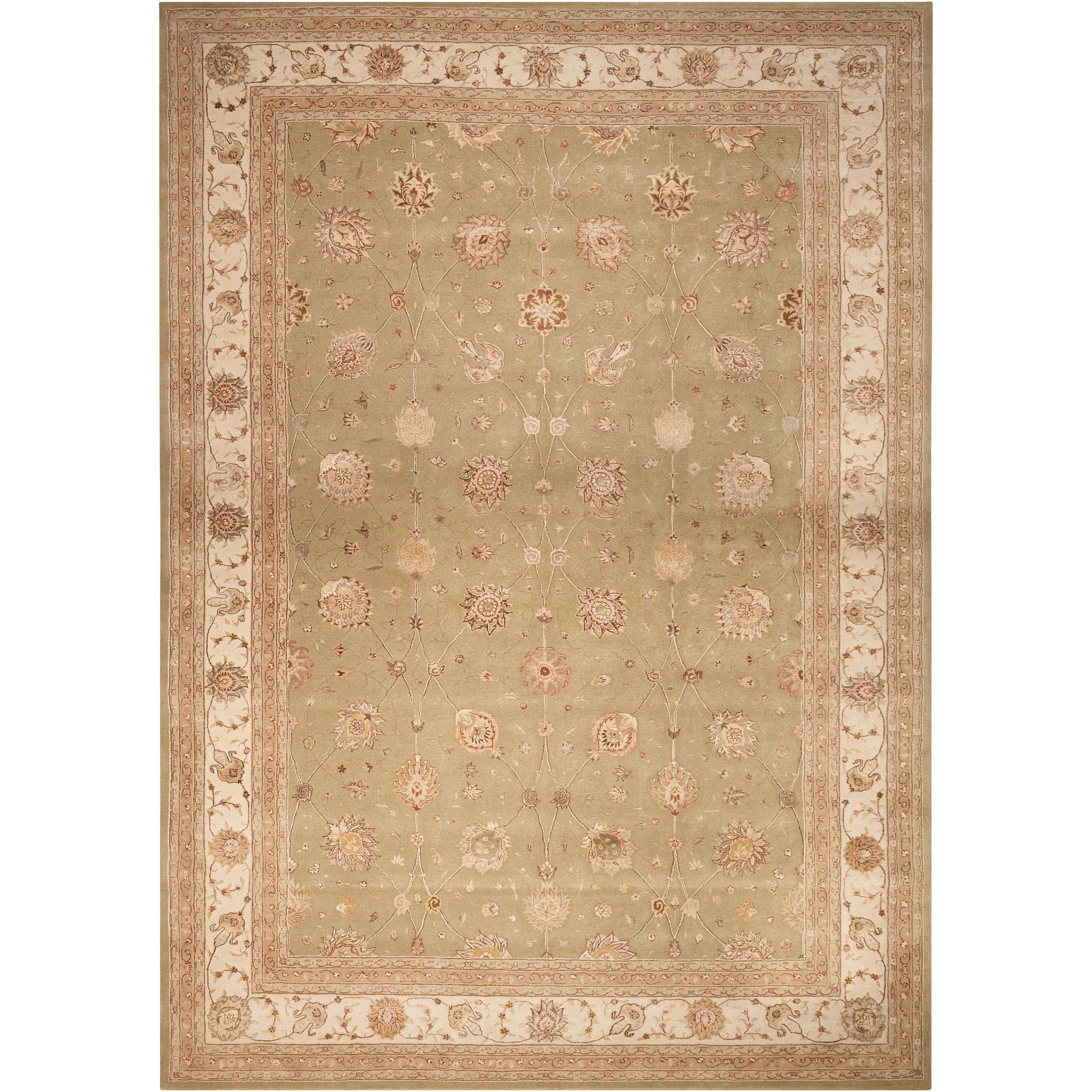 """Nourison 3000 3'9"""" x 5'9"""" Light Green Rectangle Rug by Nourison at Home Collections Furniture"""