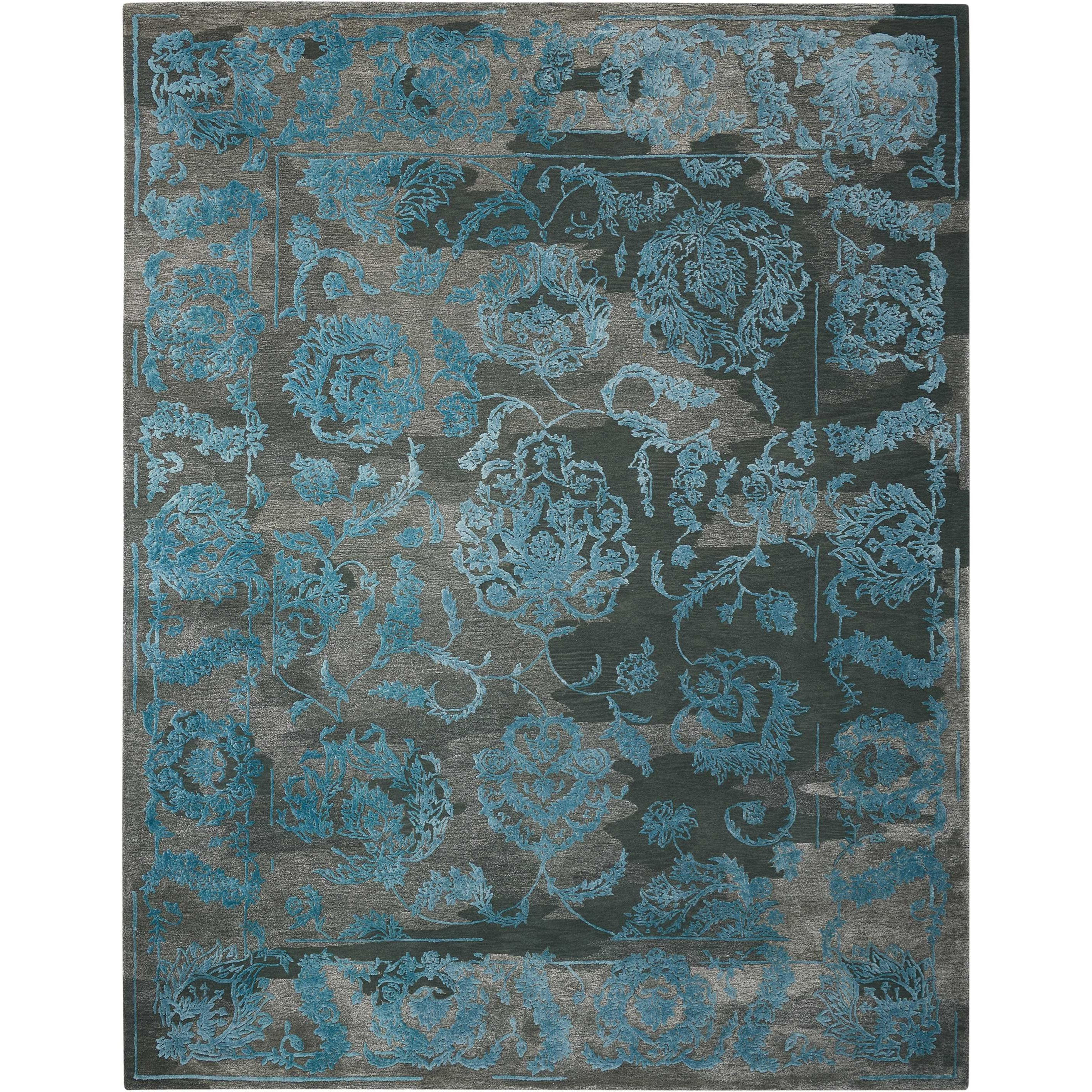 "Opaline 7'9"" X 9'9"" Cha/Bl Rug by Nourison at Home Collections Furniture"