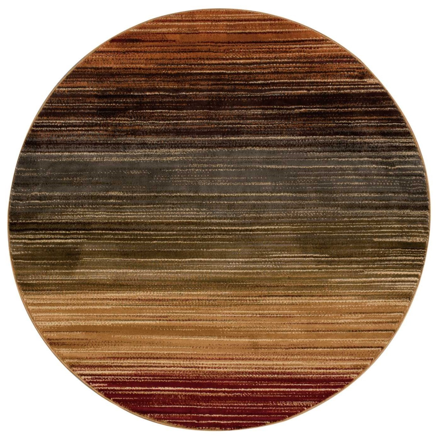 """Paramount 5'3"""" x 5'3"""" Multicolor Round Rug by Nourison at Home Collections Furniture"""