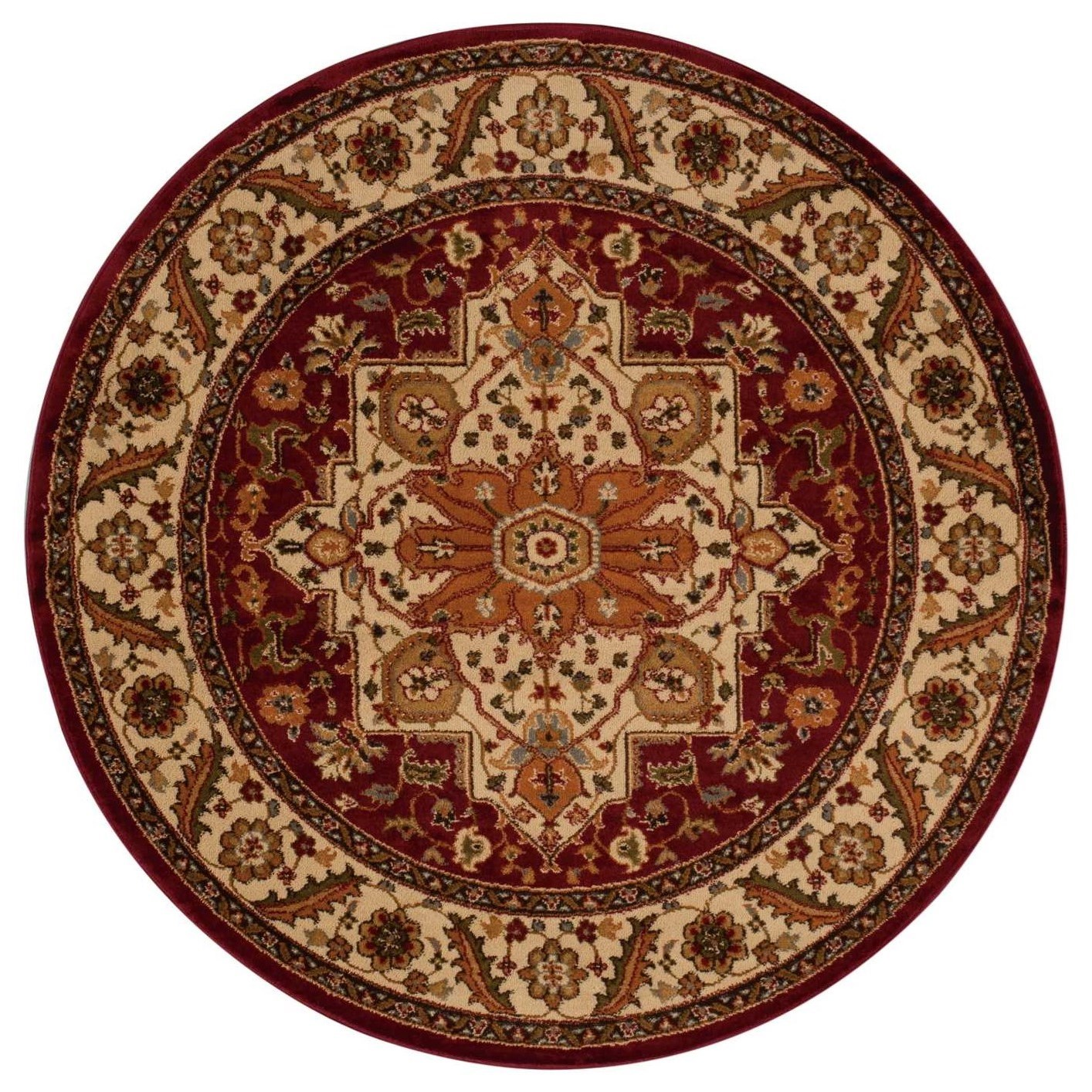 "Paramount 5'3"" x 5'3"" Gold Round Rug by Nourison at Home Collections Furniture"