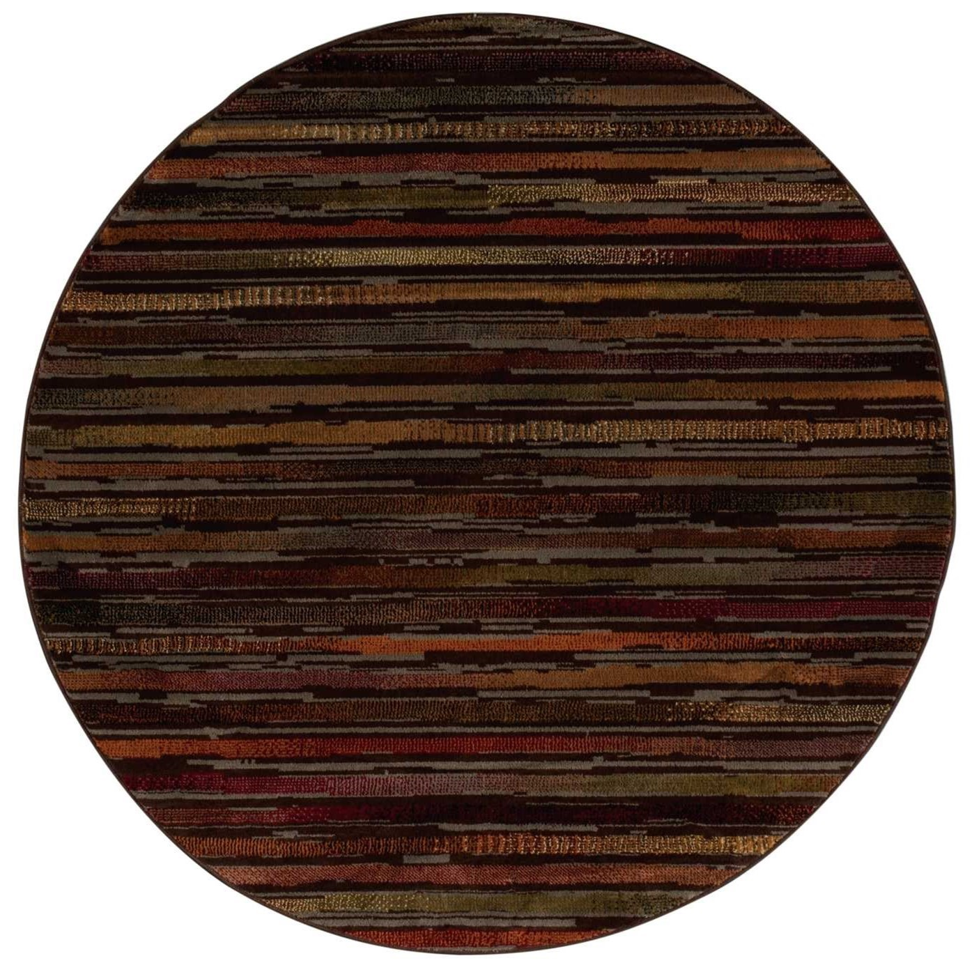"Paramount 5'3"" x 5'3"" Multicolor Round Rug by Nourison at Sprintz Furniture"