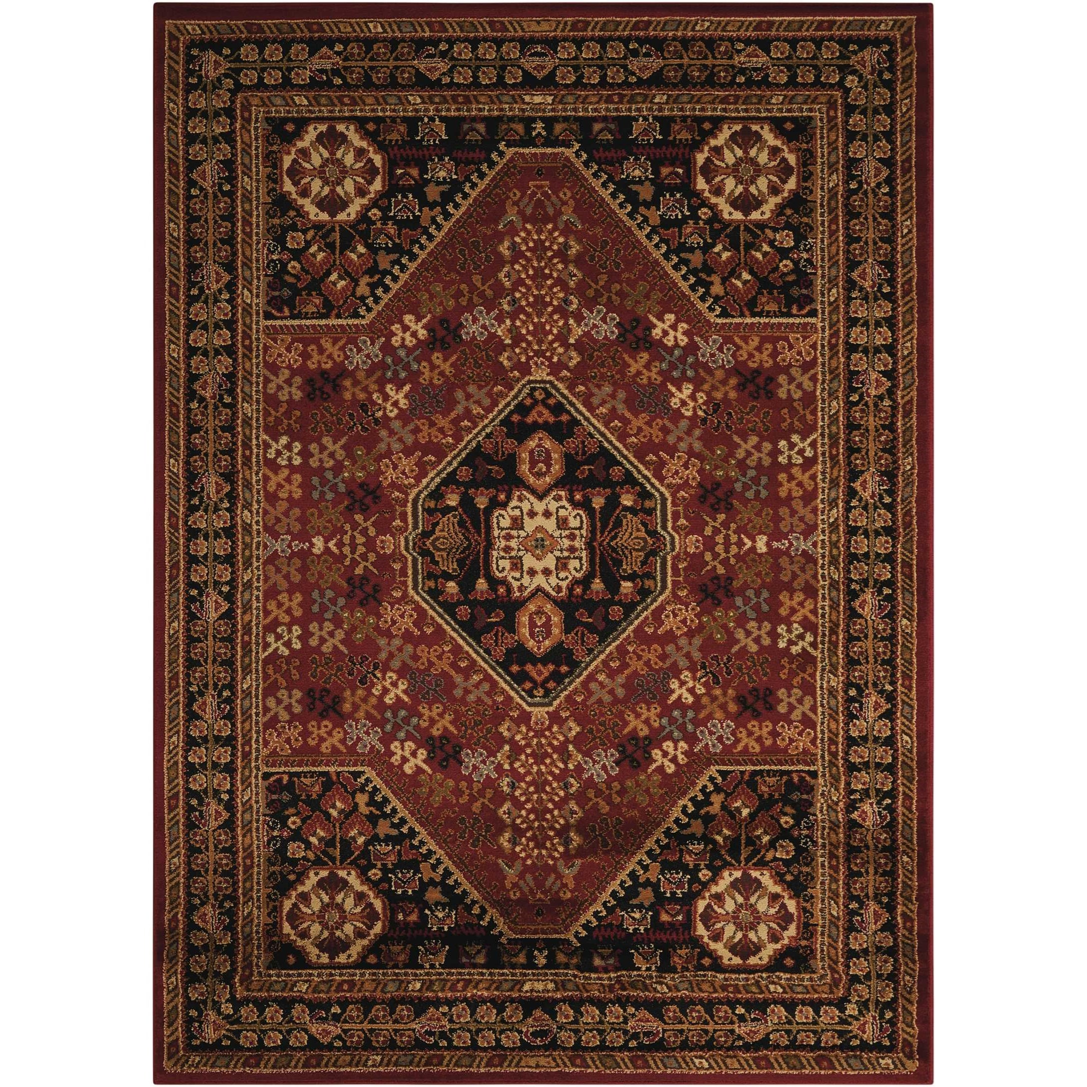 "Paramount 7'10"" x 10'6"" Red Rectangle Rug by Nourison at Home Collections Furniture"