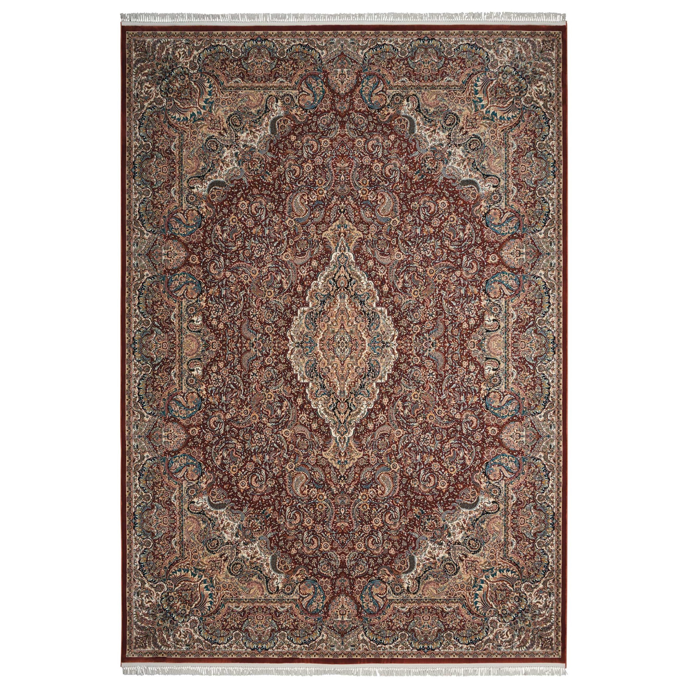 """Persian Palace 9'9"""" X 13'9"""" Terracotta Rug by Nourison at Home Collections Furniture"""