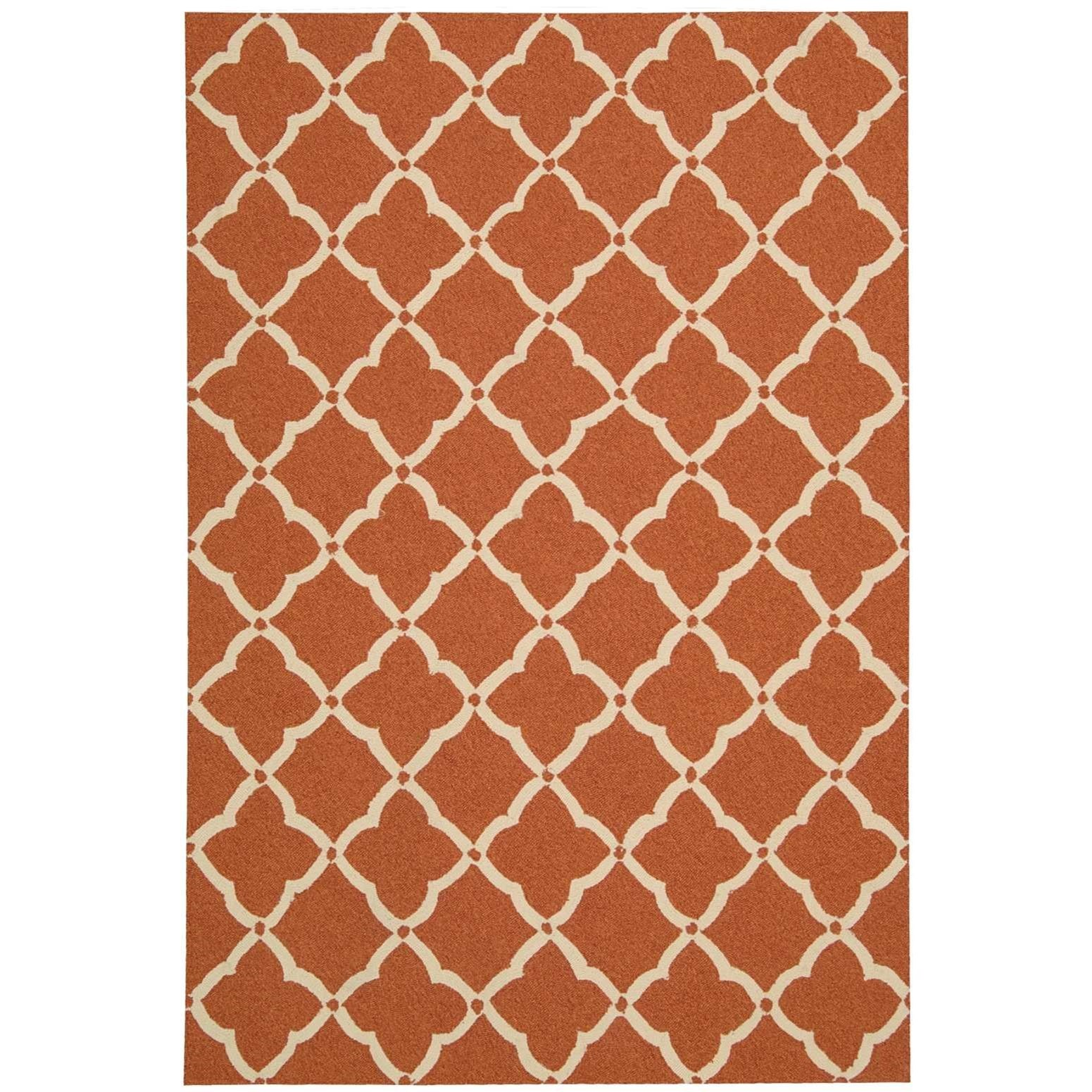 """Portico 2'3"""" x 3'9"""" Orange Rectangle Rug by Nourison at Home Collections Furniture"""