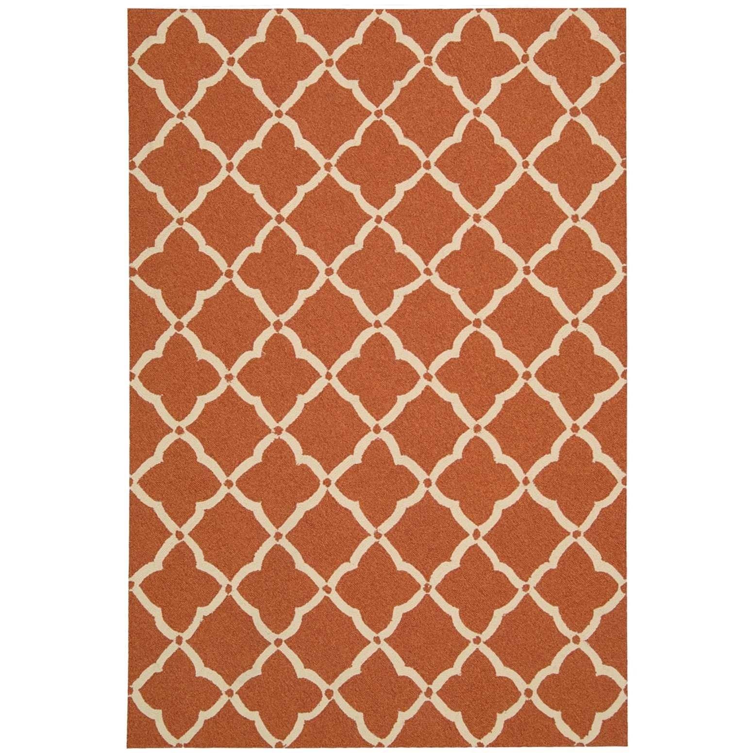 "Portico 2'3"" x 3'9"" Orange Rectangle Rug by Nourison at Sprintz Furniture"