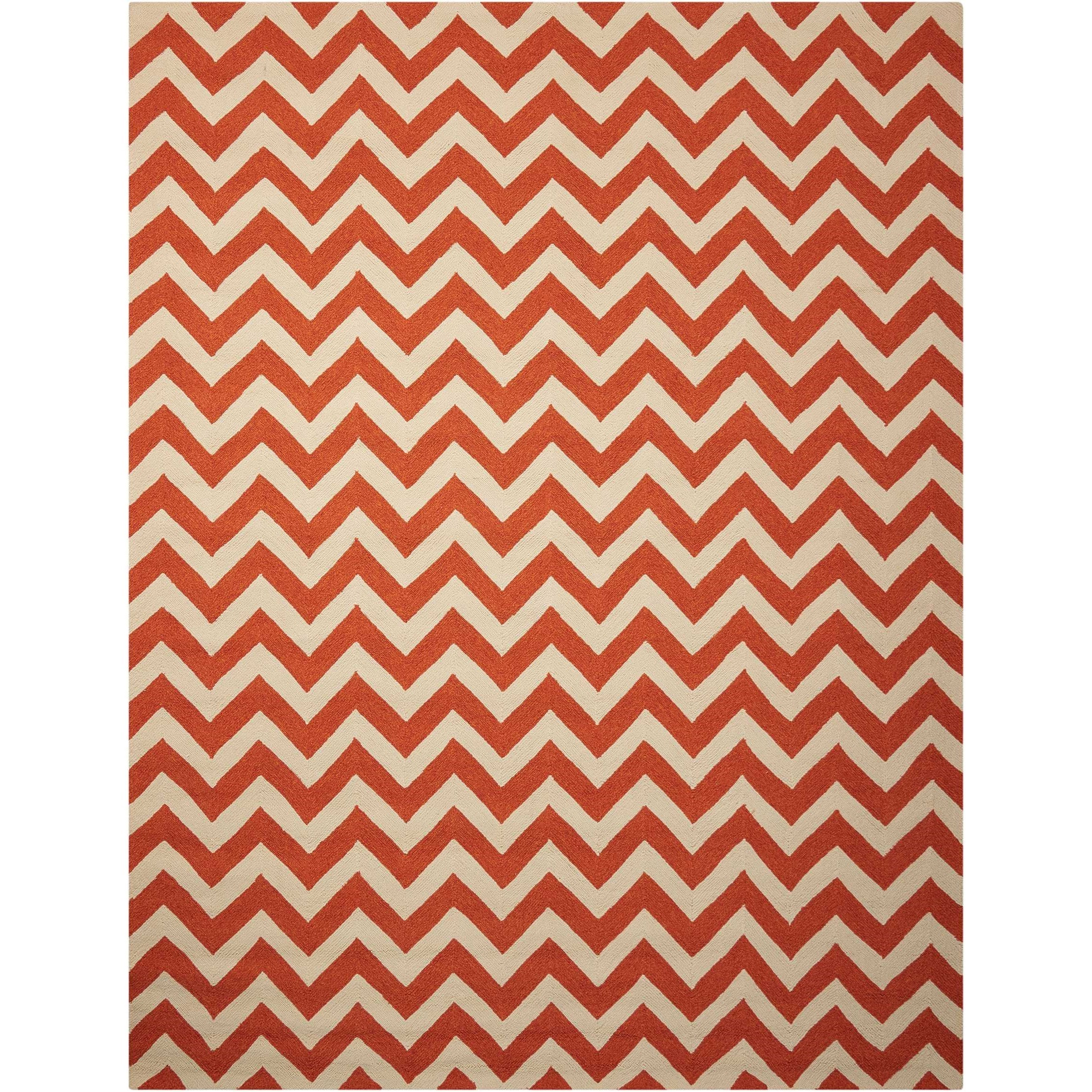 """Portico 8' x 10'6"""" Orange Rectangle Rug by Nourison at Home Collections Furniture"""