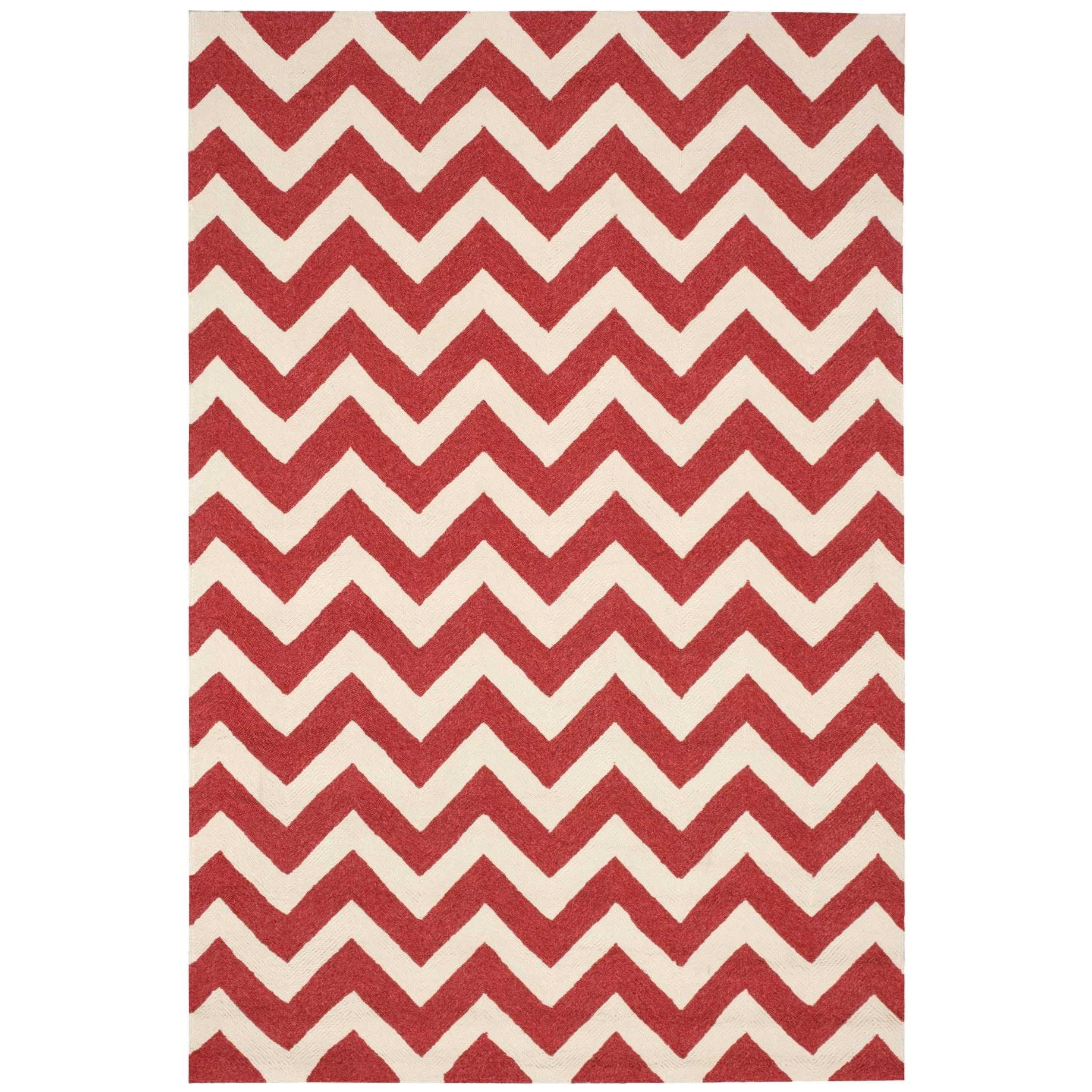 """Portico 5' x 7'6"""" Red Rectangle Rug by Nourison at Home Collections Furniture"""