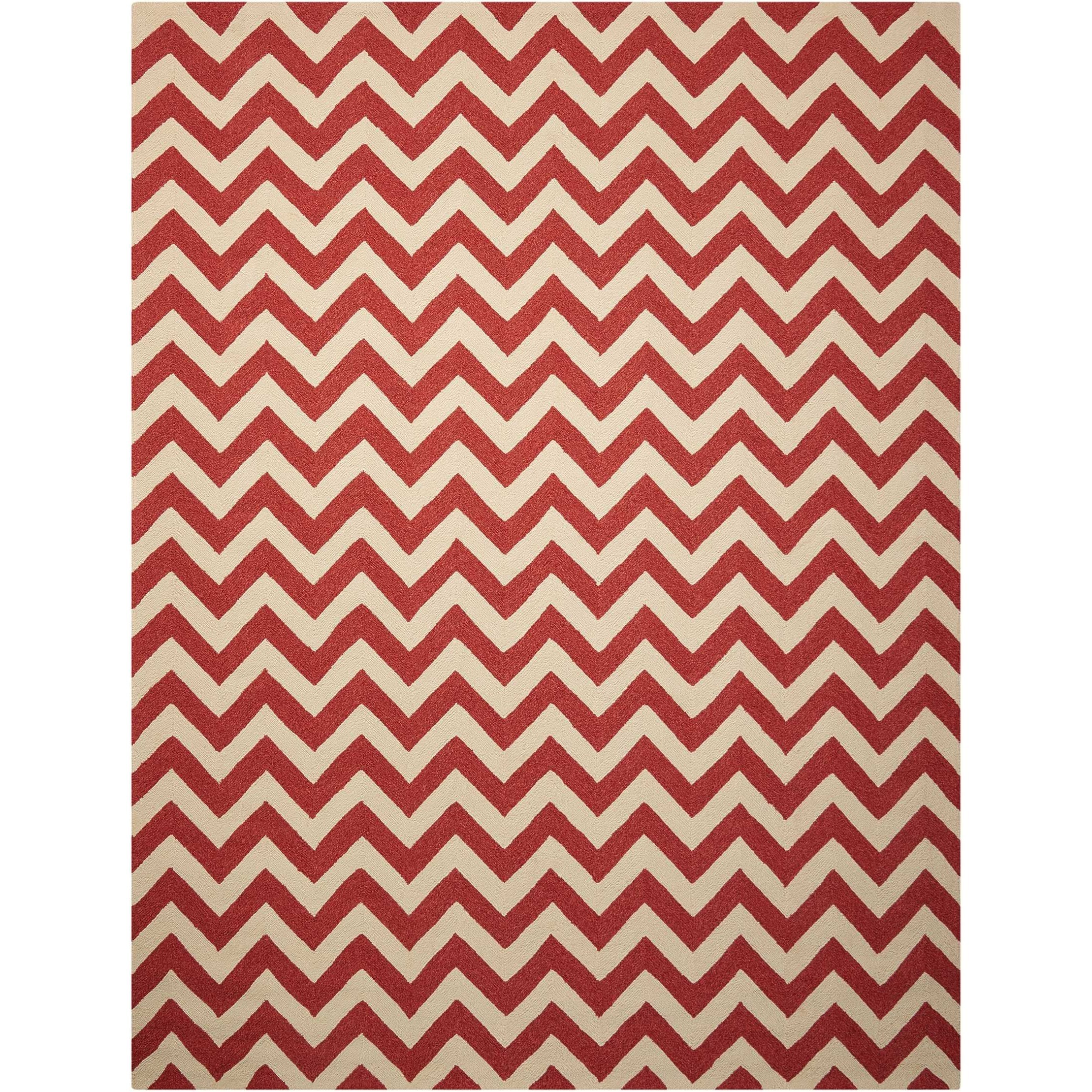 """Portico 8' x 10'6"""" Red Rectangle Rug by Nourison at Sprintz Furniture"""