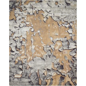 """3'9"""" X 5'9"""" Beige/Silver Rectangle Rug"""