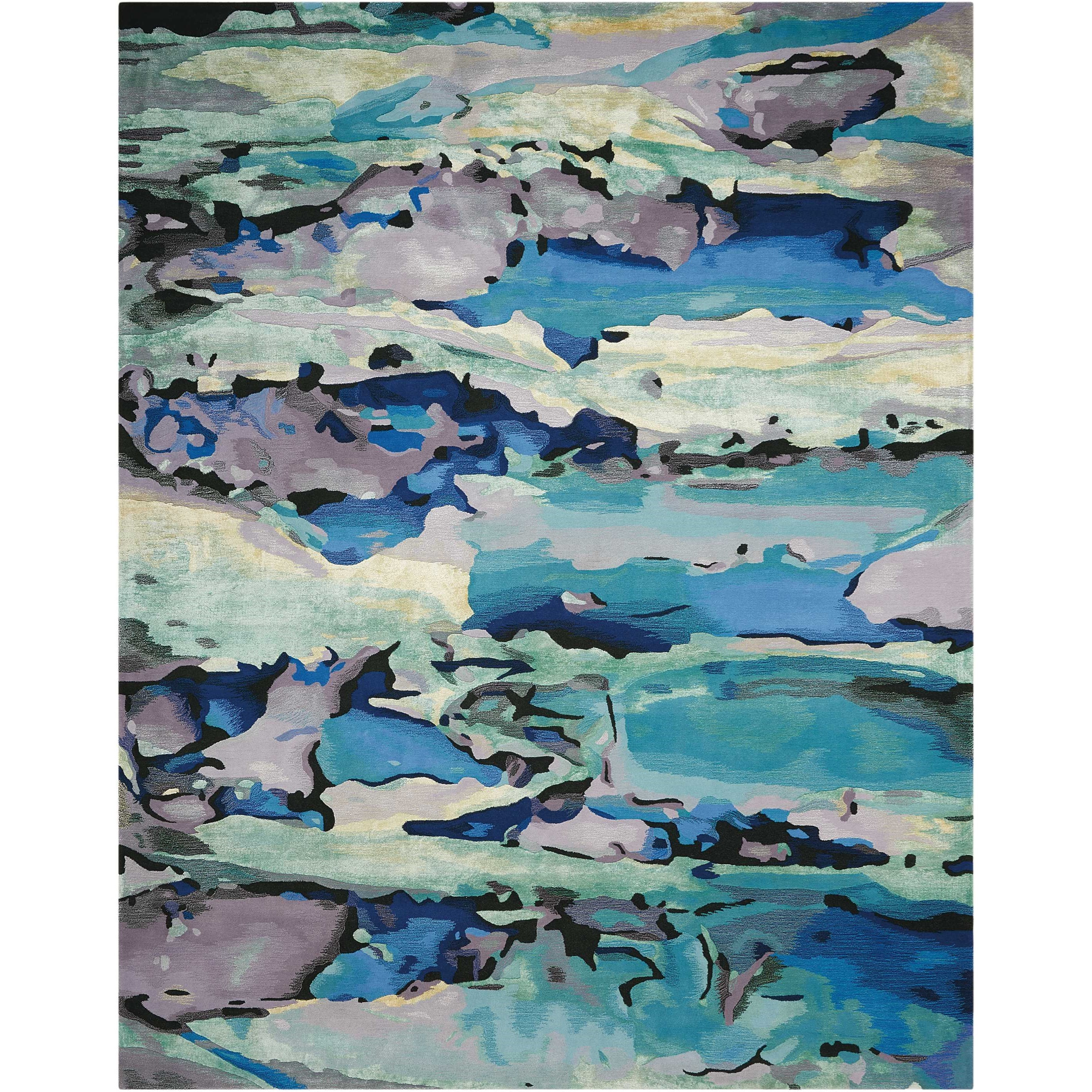 """Prismatic 8'6"""" X 11'6"""" Seaglass Rug by Nourison at Home Collections Furniture"""