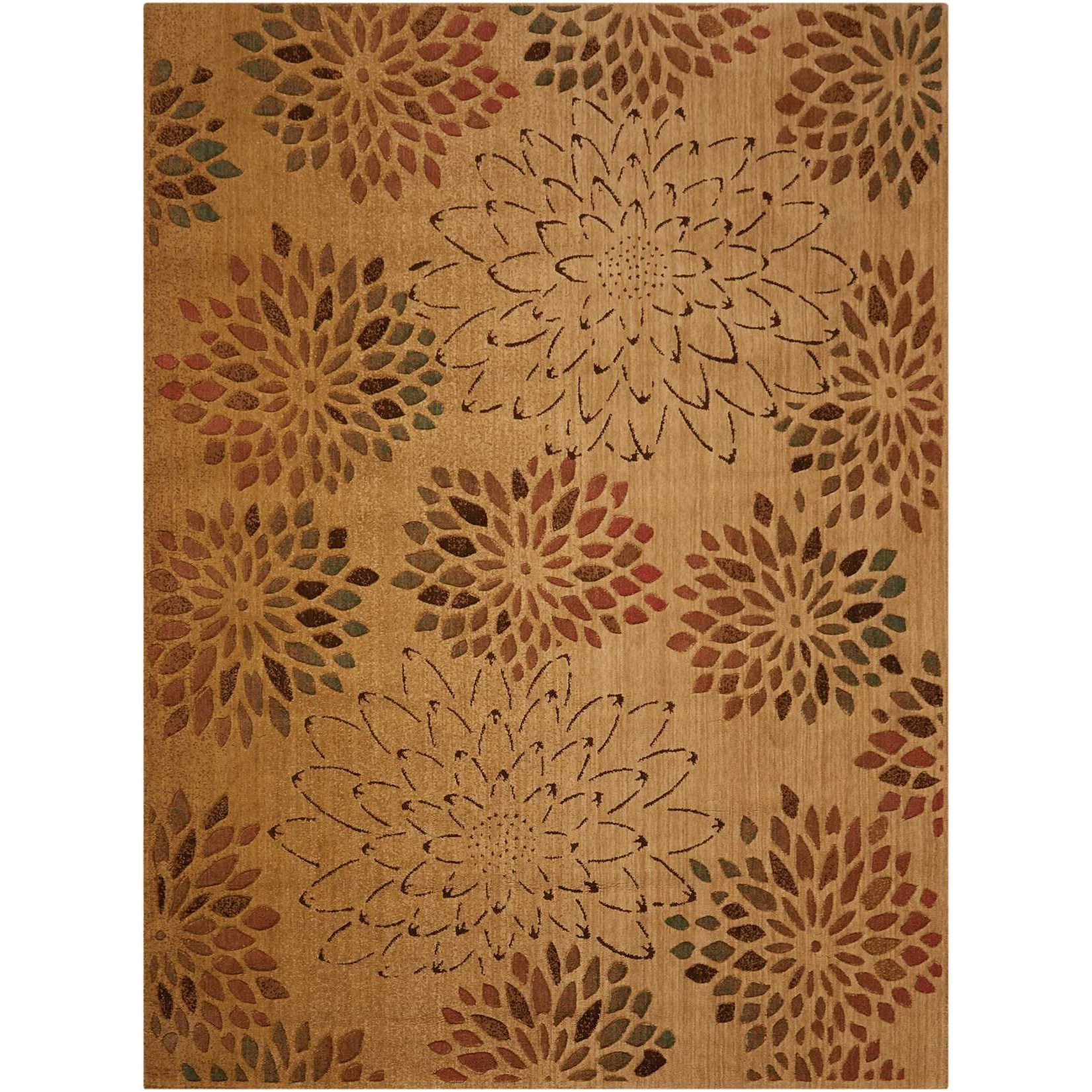 """Radiant Impression 5'6"""" x 7'5"""" Beige Rectangle Rug by Nourison at Home Collections Furniture"""