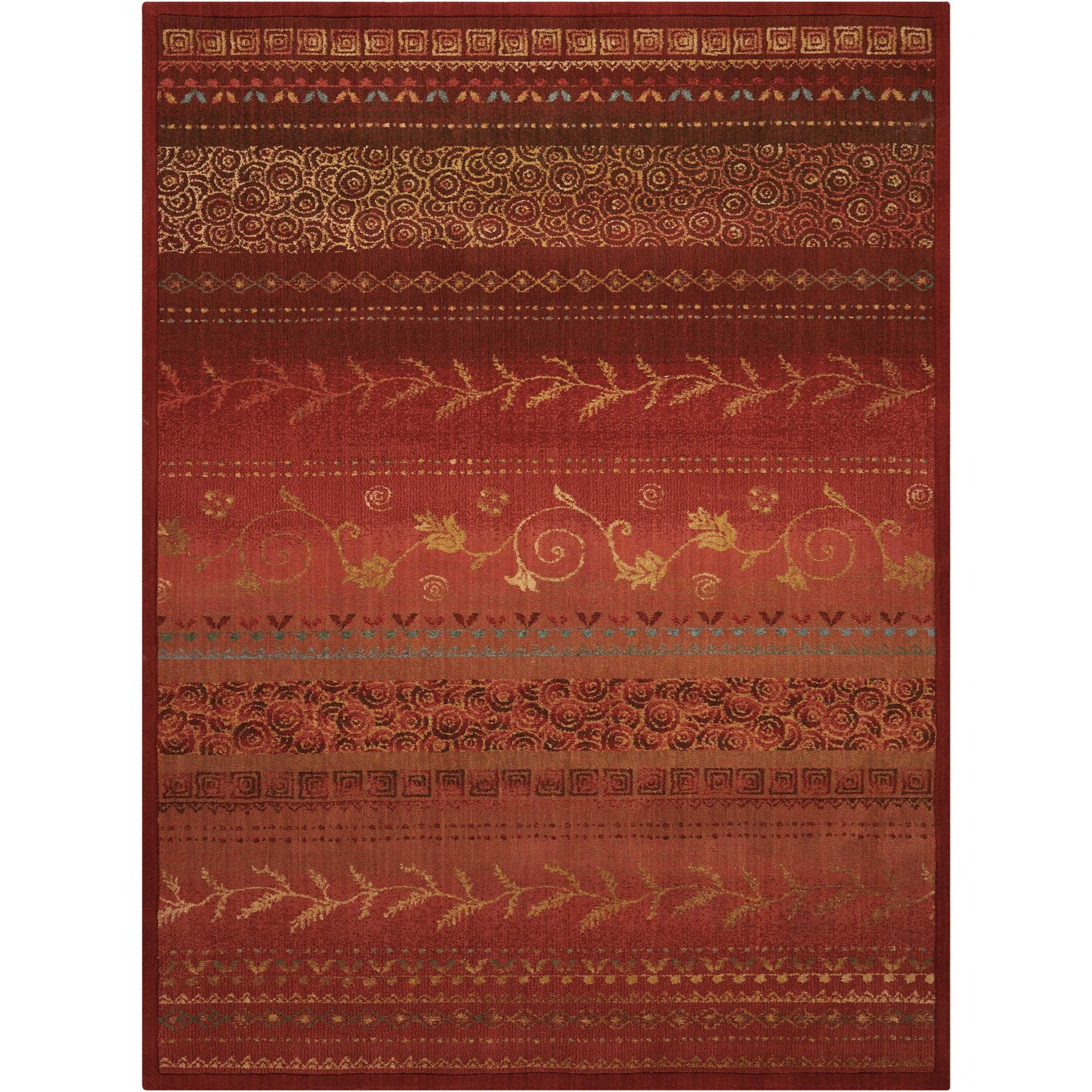 "Radiant Impression 5'6"" x 7'5"" Crimson Rectangle Rug by Nourison at Sprintz Furniture"