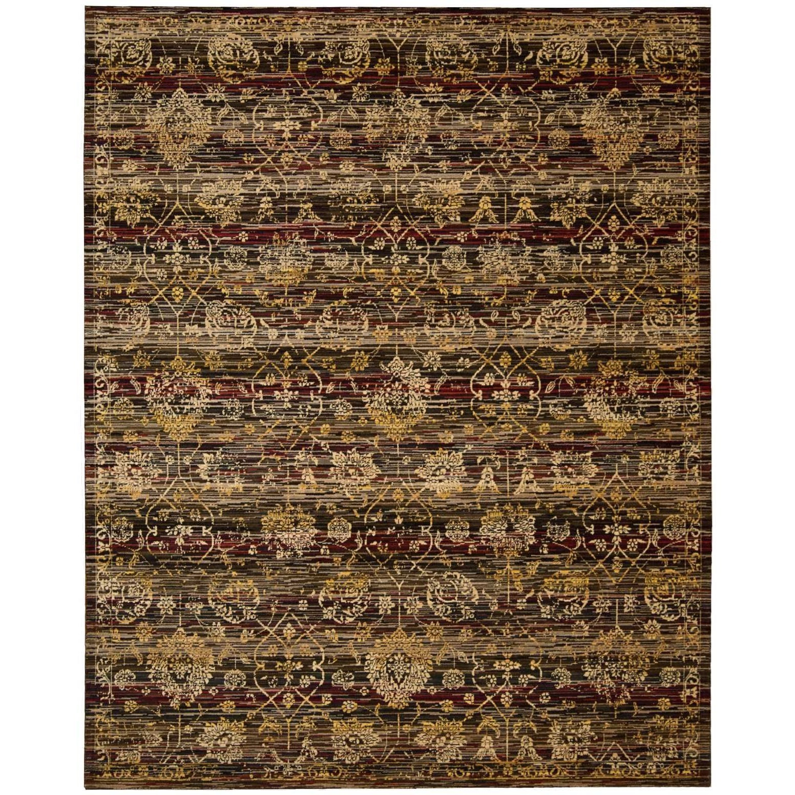 """Rhapsody 8'6"""" x 11'6"""" Ebony Rectangle Rug by Nourison at Home Collections Furniture"""