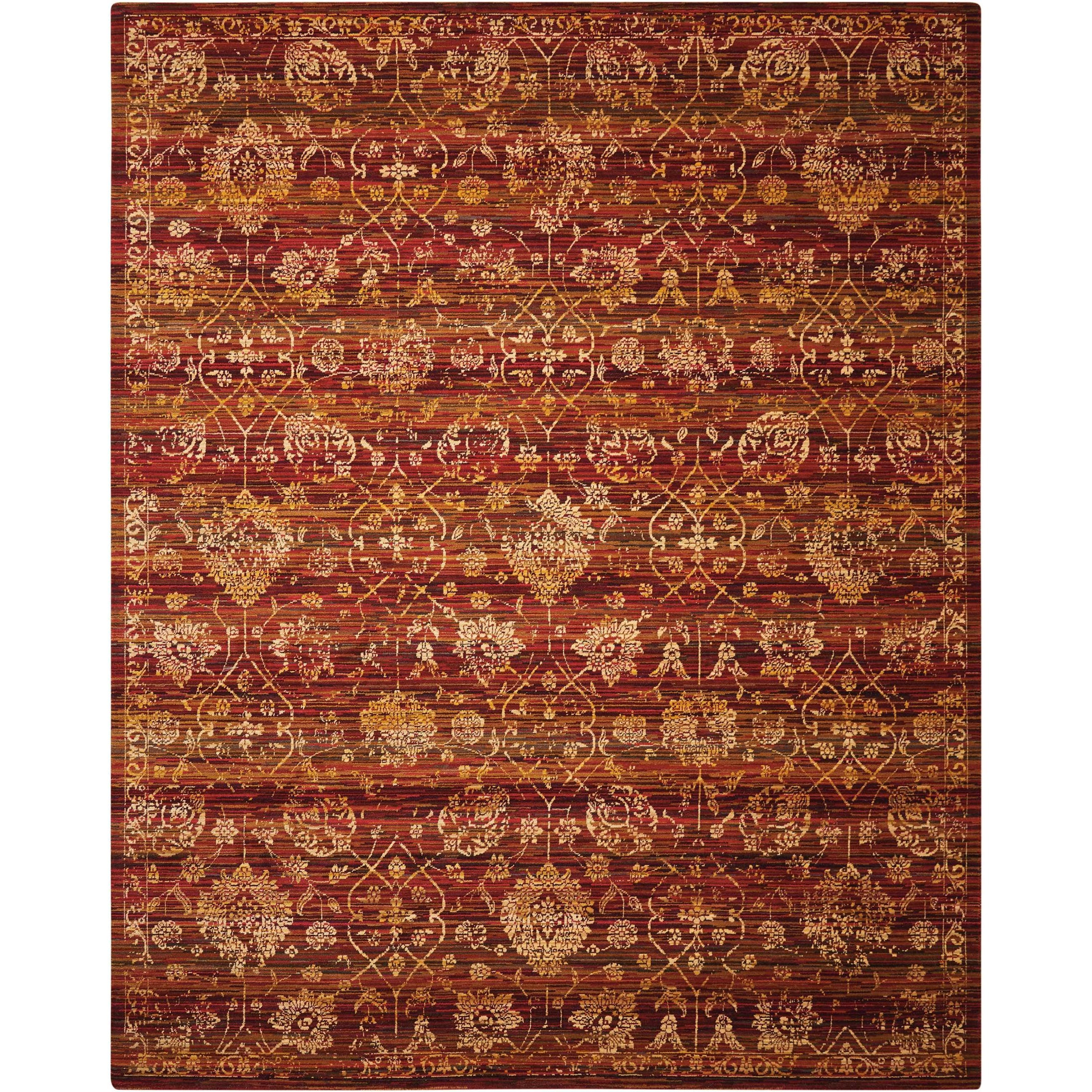 """Rhapsody 7'9"""" x 9'9"""" Sienna/Gold Rectangle Rug by Nourison at Home Collections Furniture"""