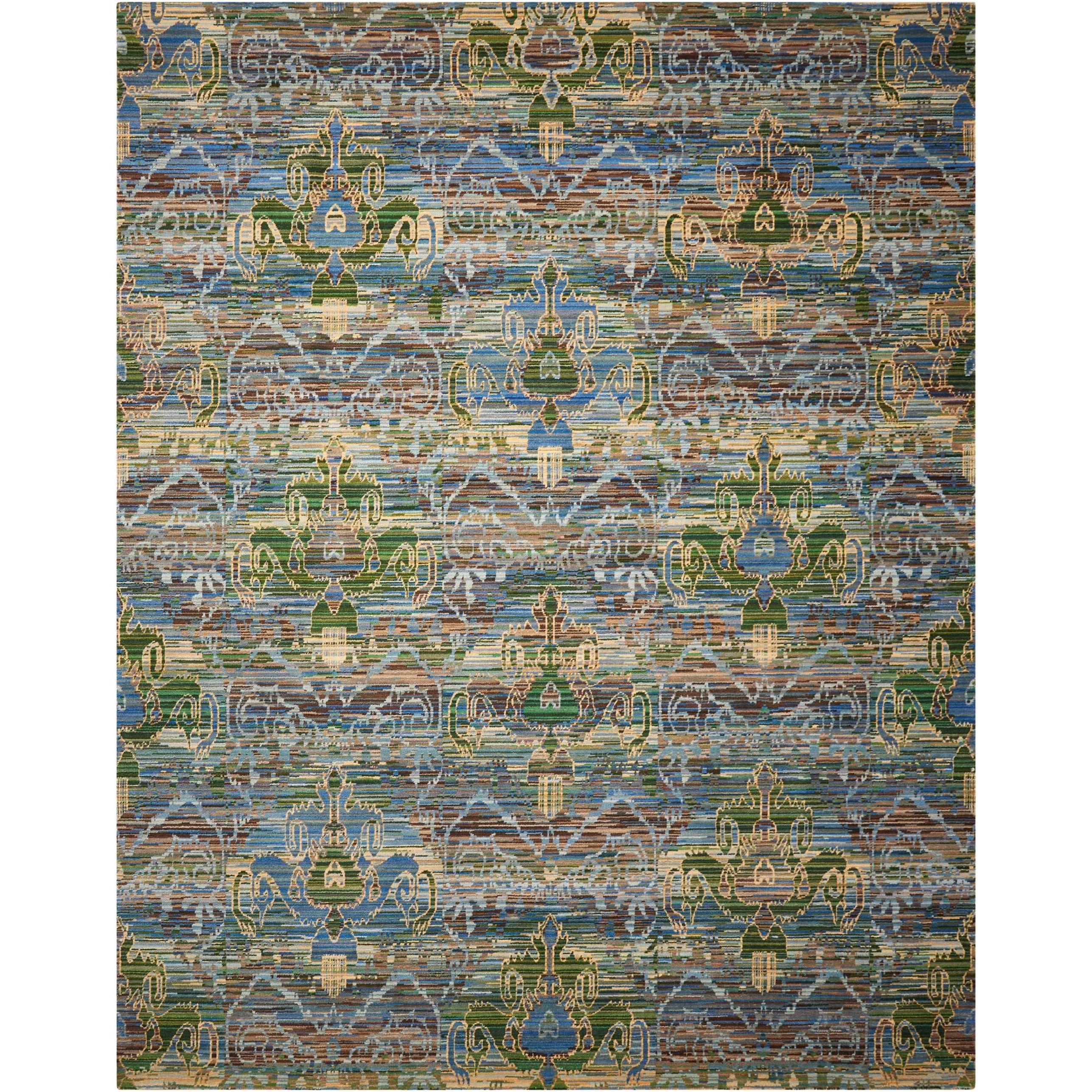 """Rhapsody 7'9"""" x 9'9"""" Seaglass Rectangle Rug by Nourison at Home Collections Furniture"""