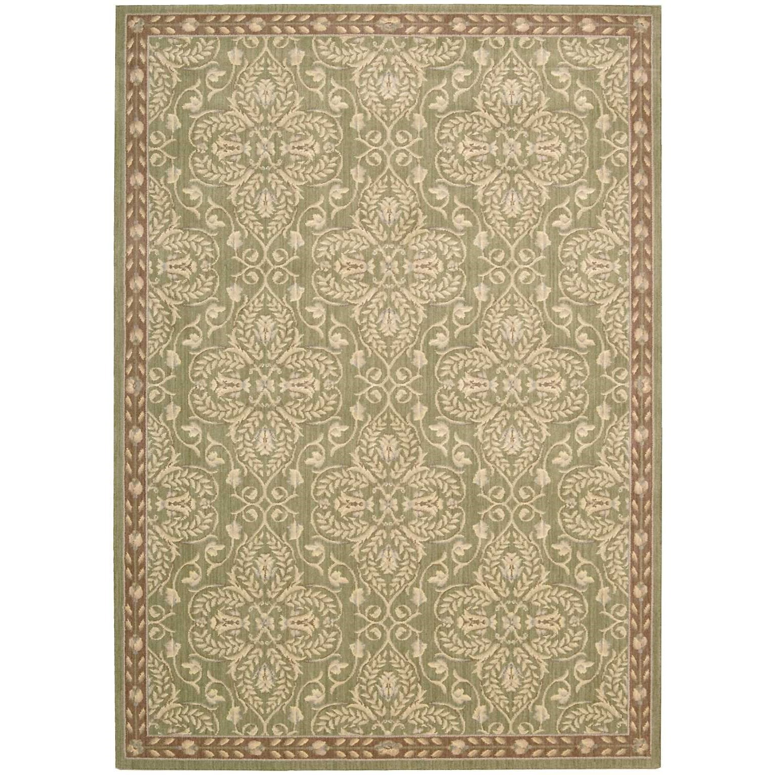 """Riviera 3'6"""" x 5'6"""" Green Rectangle Rug by Nourison at Home Collections Furniture"""