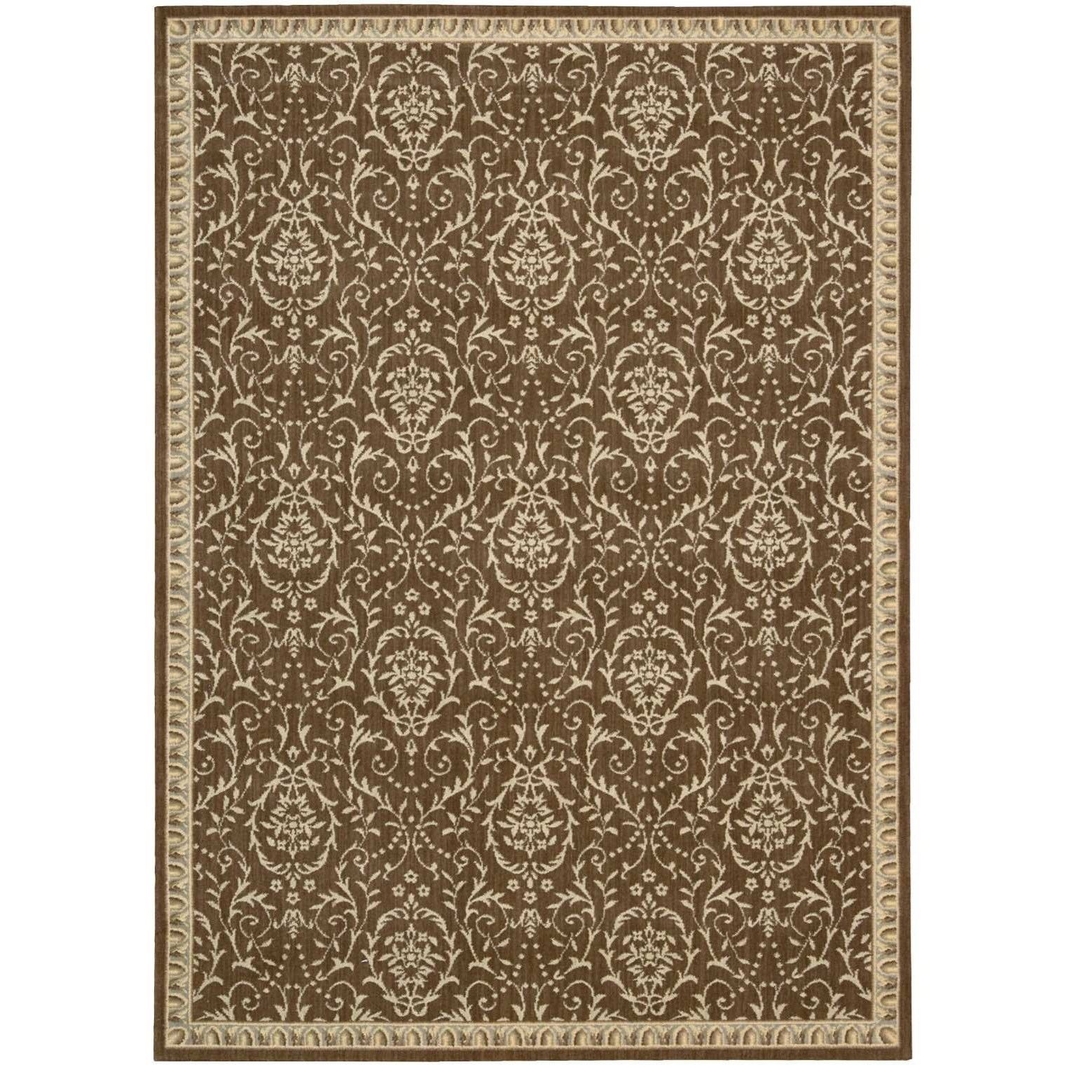 """Riviera 2' x 2'9"""" Chocolate Rectangle Rug by Nourison at Home Collections Furniture"""
