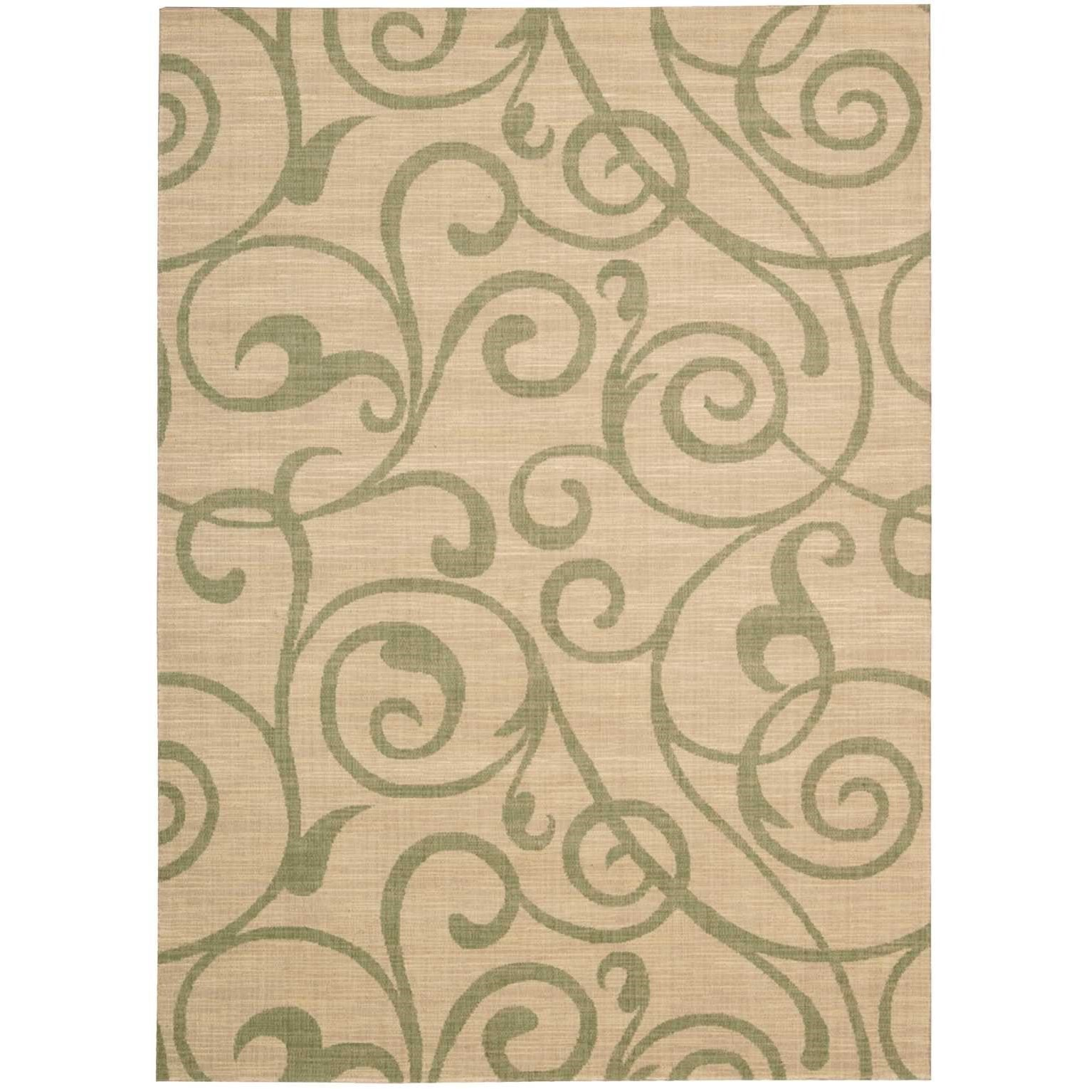 """Riviera 3'6"""" x 5'6"""" Light Gold Rectangle Rug by Nourison at Sprintz Furniture"""