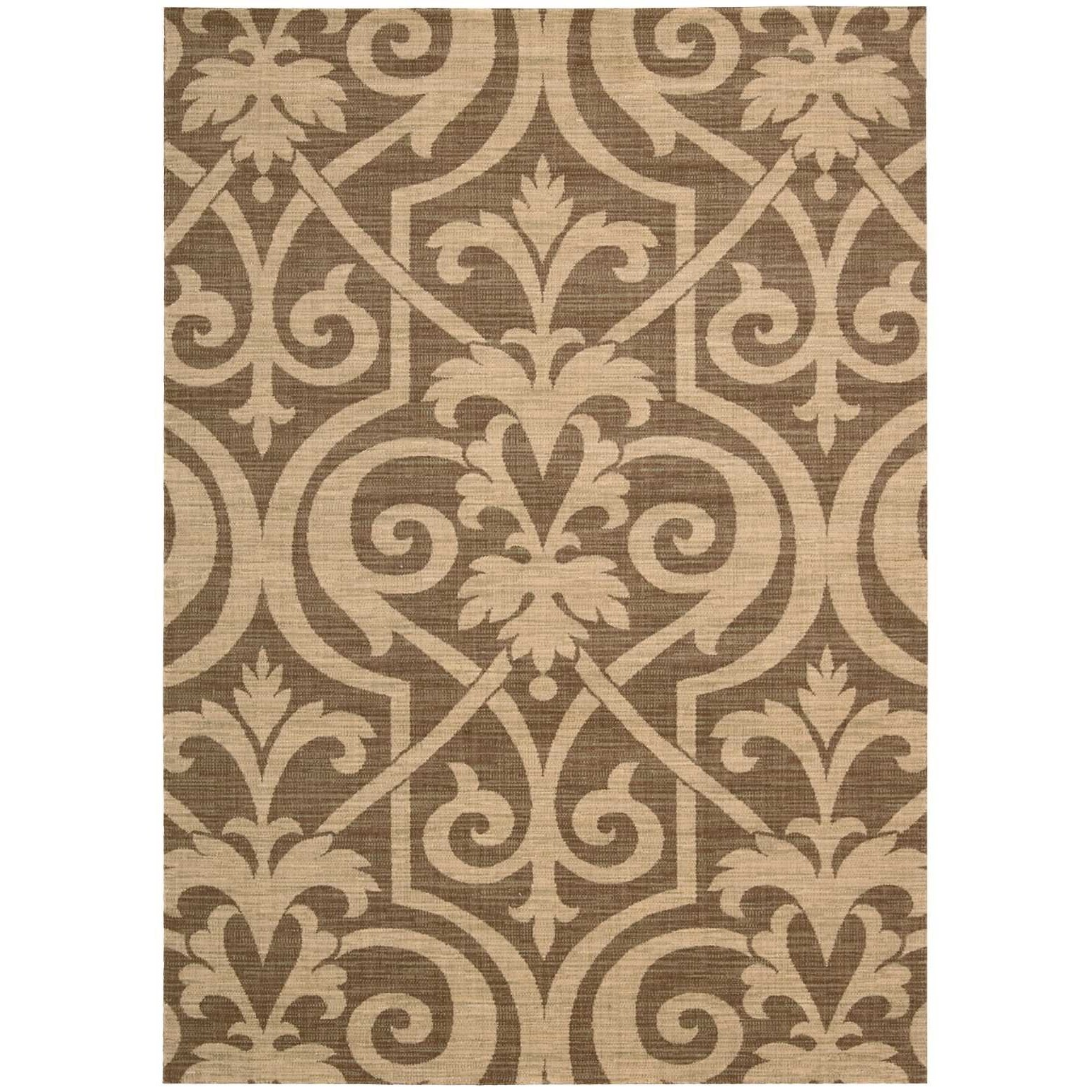 """Riviera 9'6"""" x 13' Mocha Rectangle Rug by Nourison at Home Collections Furniture"""