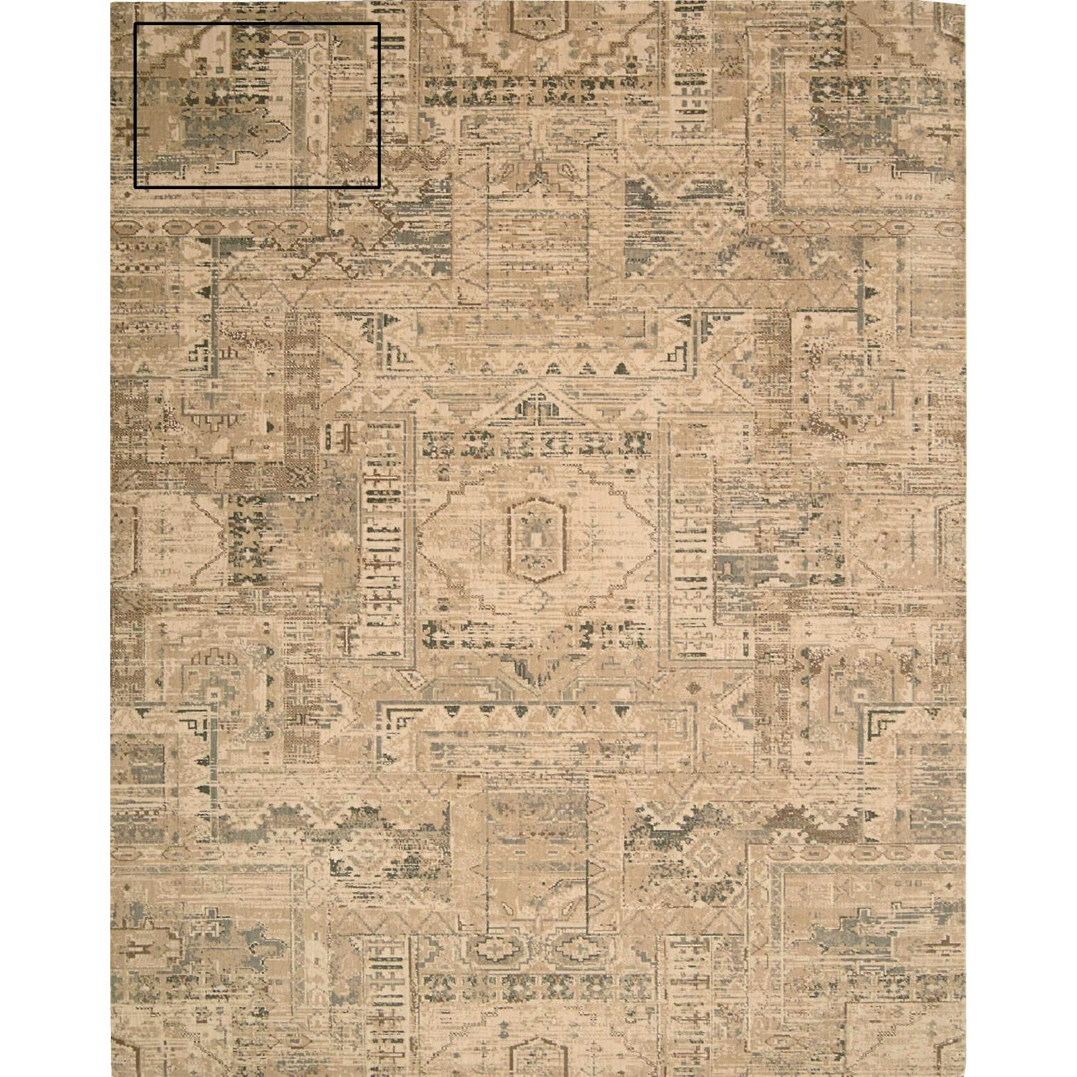 "Silk Elements 5'6"" x 8' Beige Rectangle Rug by Nourison at Sprintz Furniture"