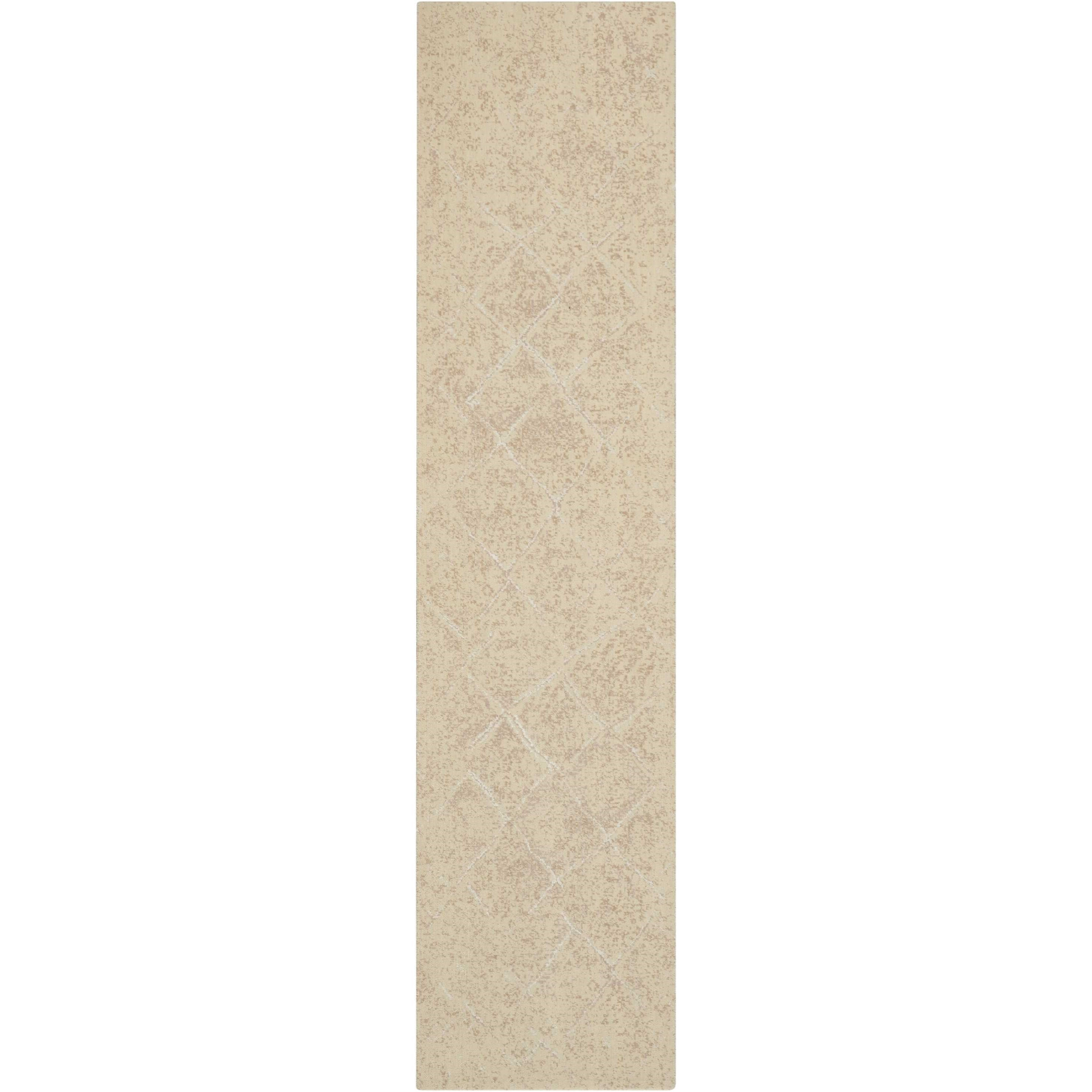 """Silk Elements 2'5"""" x 10' Natural Runner Rug by Nourison at Home Collections Furniture"""