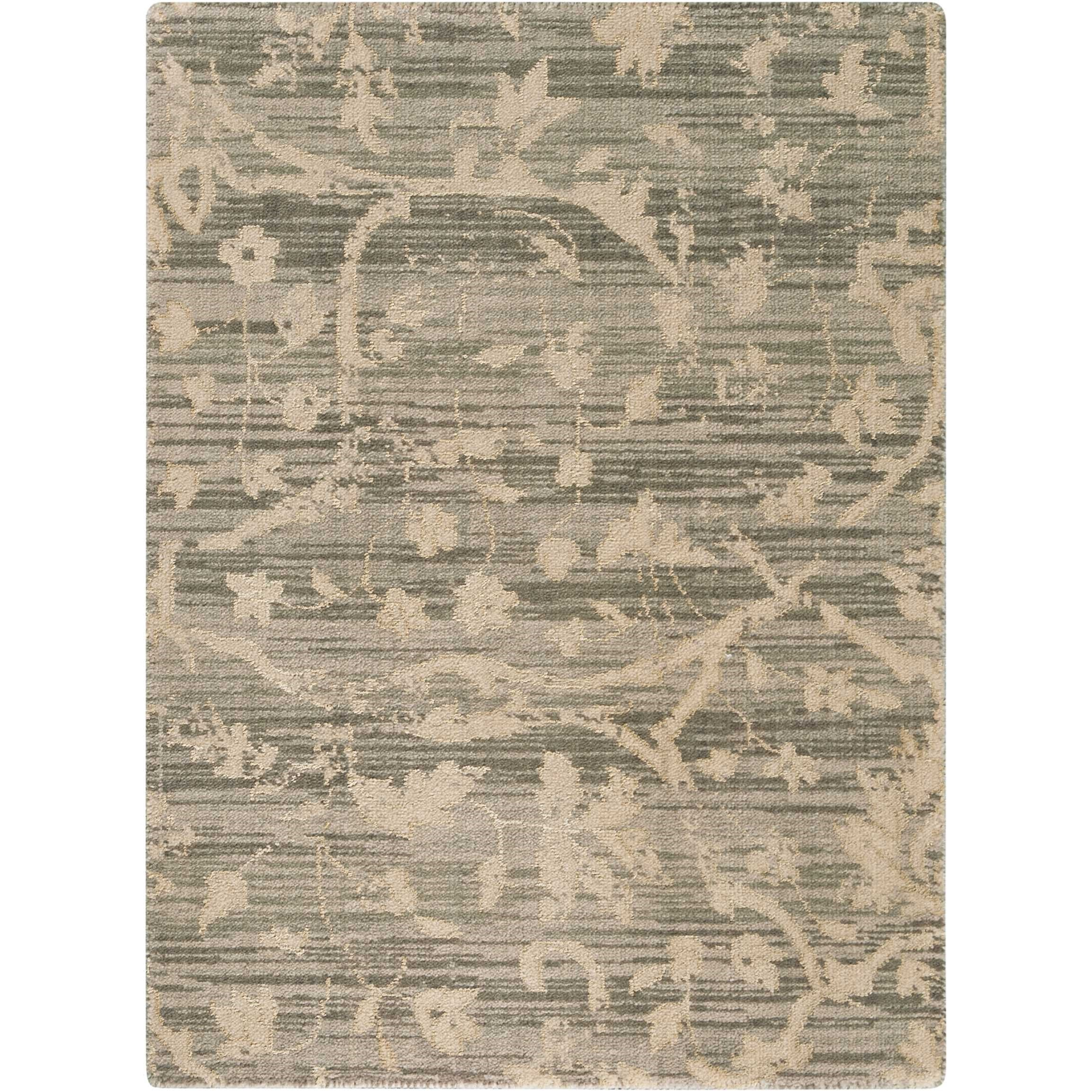 """Silk Elements 2'3"""" x 3' Taupe Rectangle Rug by Nourison at Adcock Furniture"""