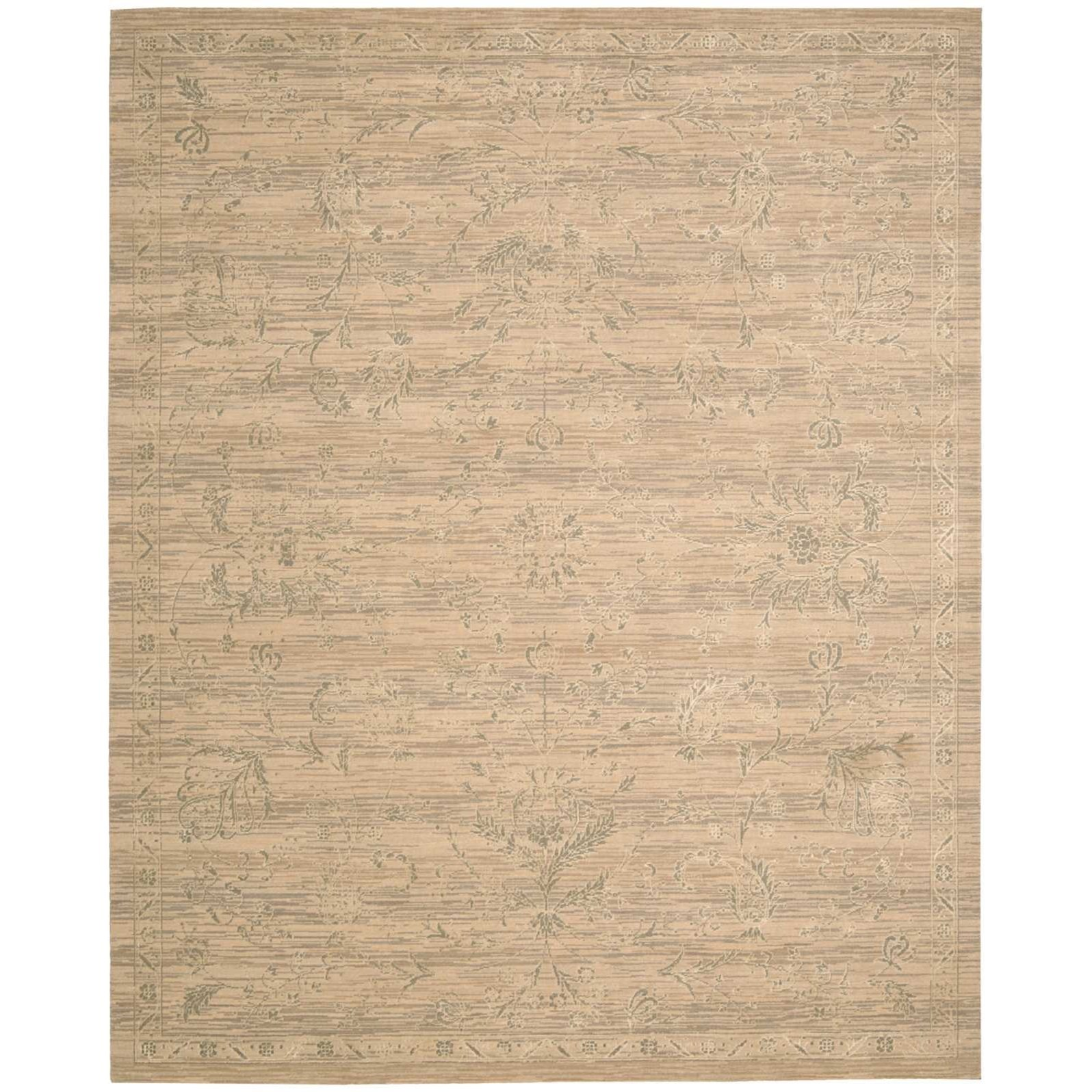 """Silk Elements 9'9"""" x 13' Sand Rectangle Rug by Nourison at Home Collections Furniture"""
