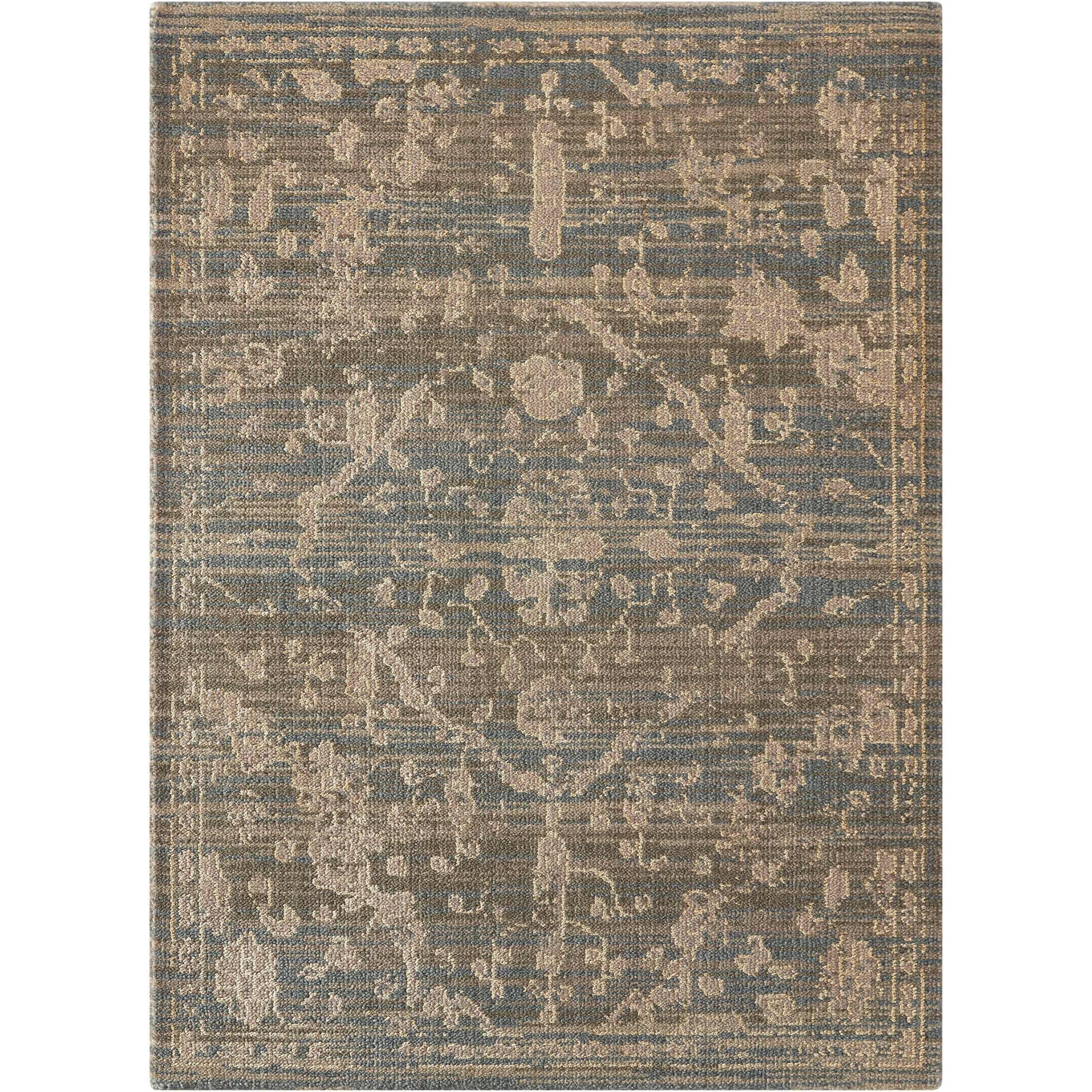 """Silk Elements 5'6"""" x 8' Azure Rectangle Rug by Nourison at Home Collections Furniture"""
